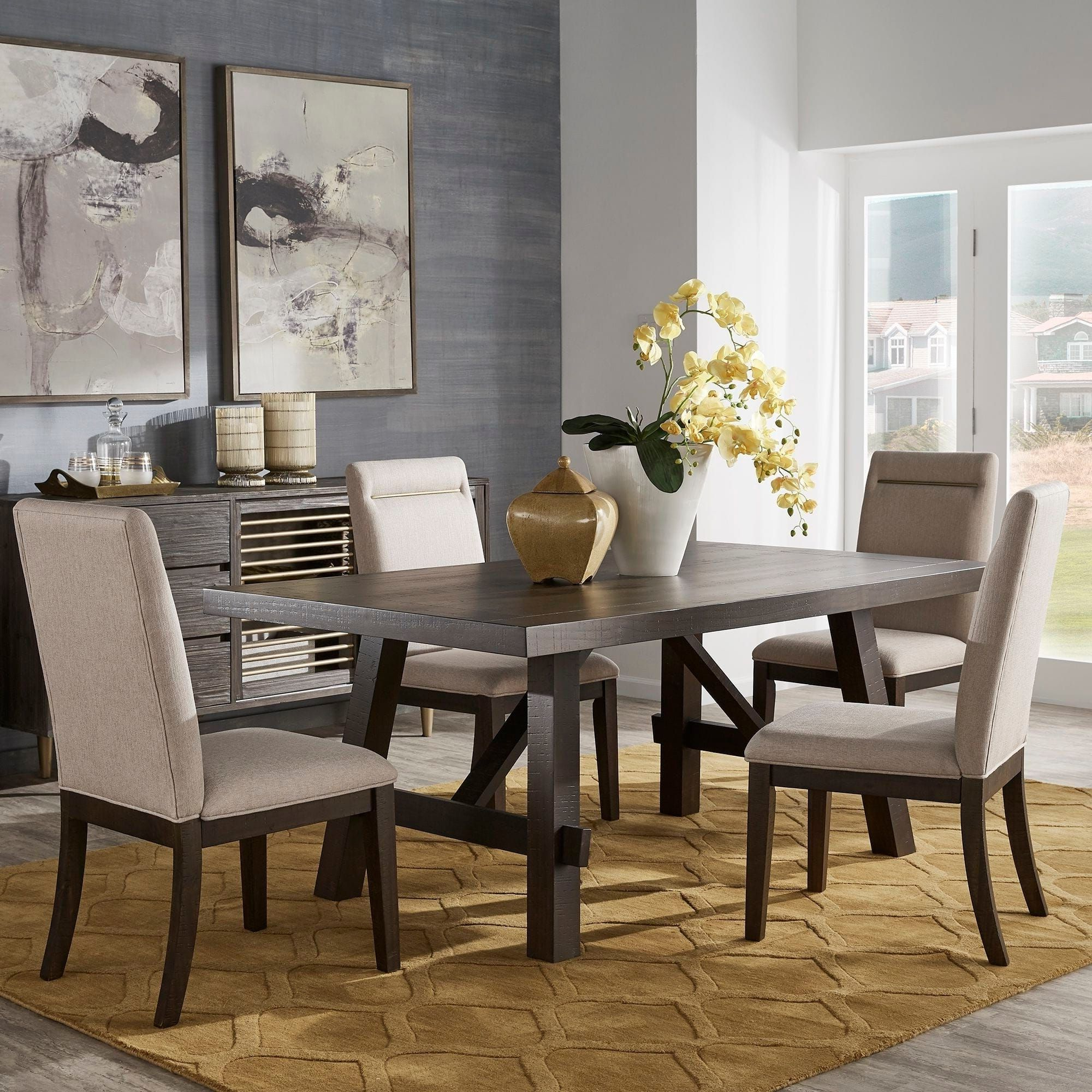 Rama Dark Espresso Finish Dining Setinspire Q Classic Within Most Up To Date Espresso Finish Wood Classic Design Dining Tables (View 5 of 17)