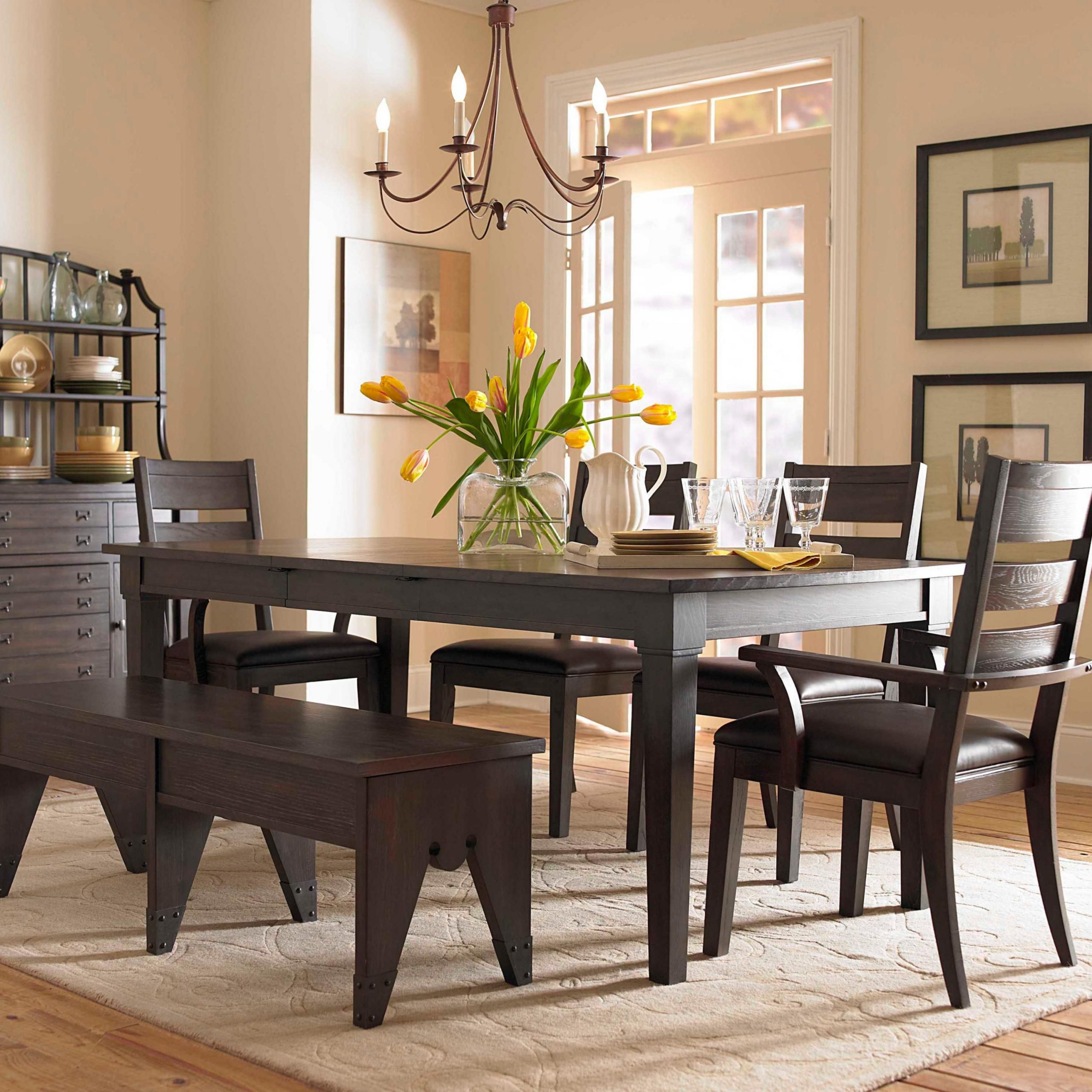 Outstanding Transitional Dining Room Suitable For Any Home: 25 Inspirations Of Transitional 6-Seating Casual Dining Tables