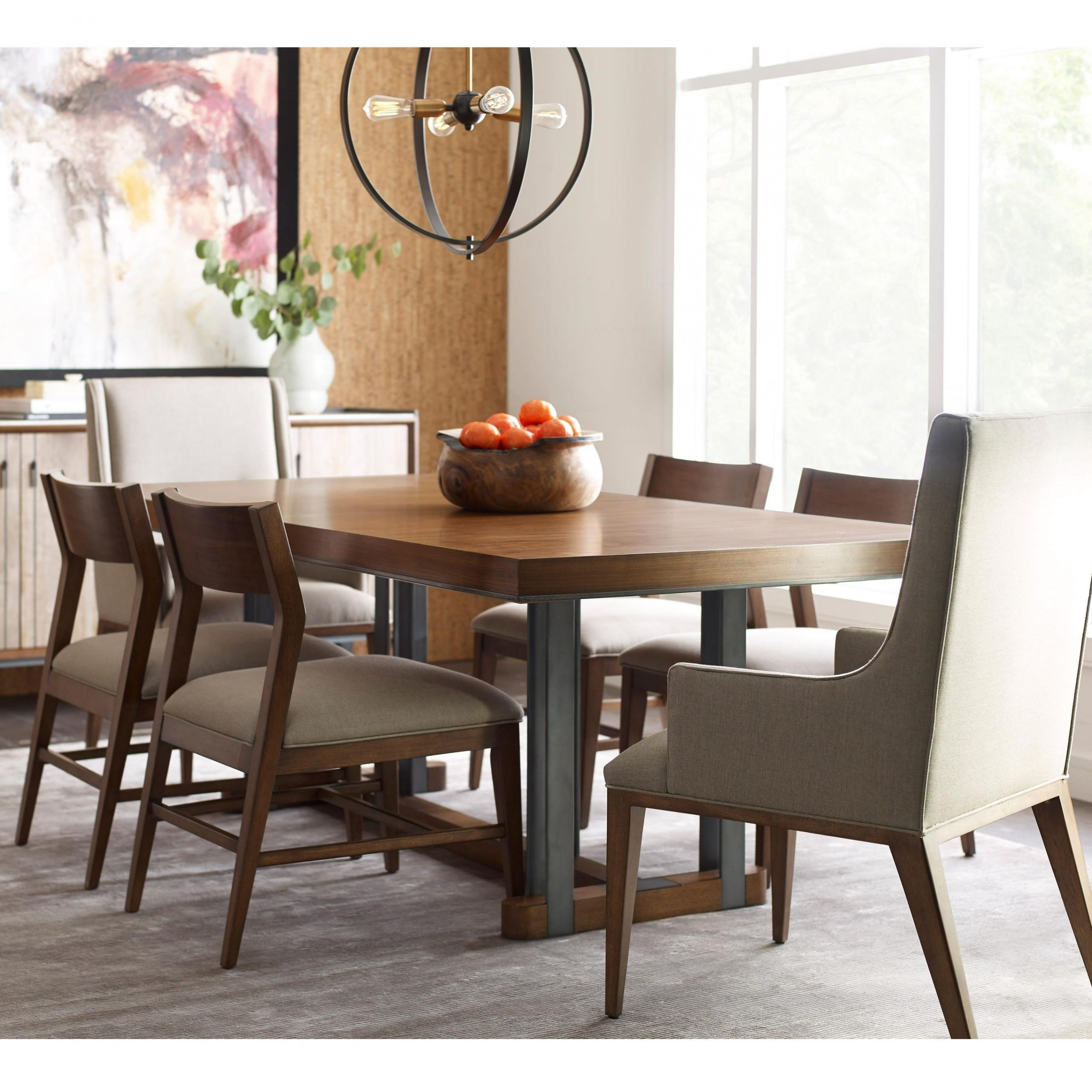 Recent Contemporary Rectangular Dining Tables Throughout American Drew Modern Synergy Contemporary Rectangular Dining (View 16 of 25)