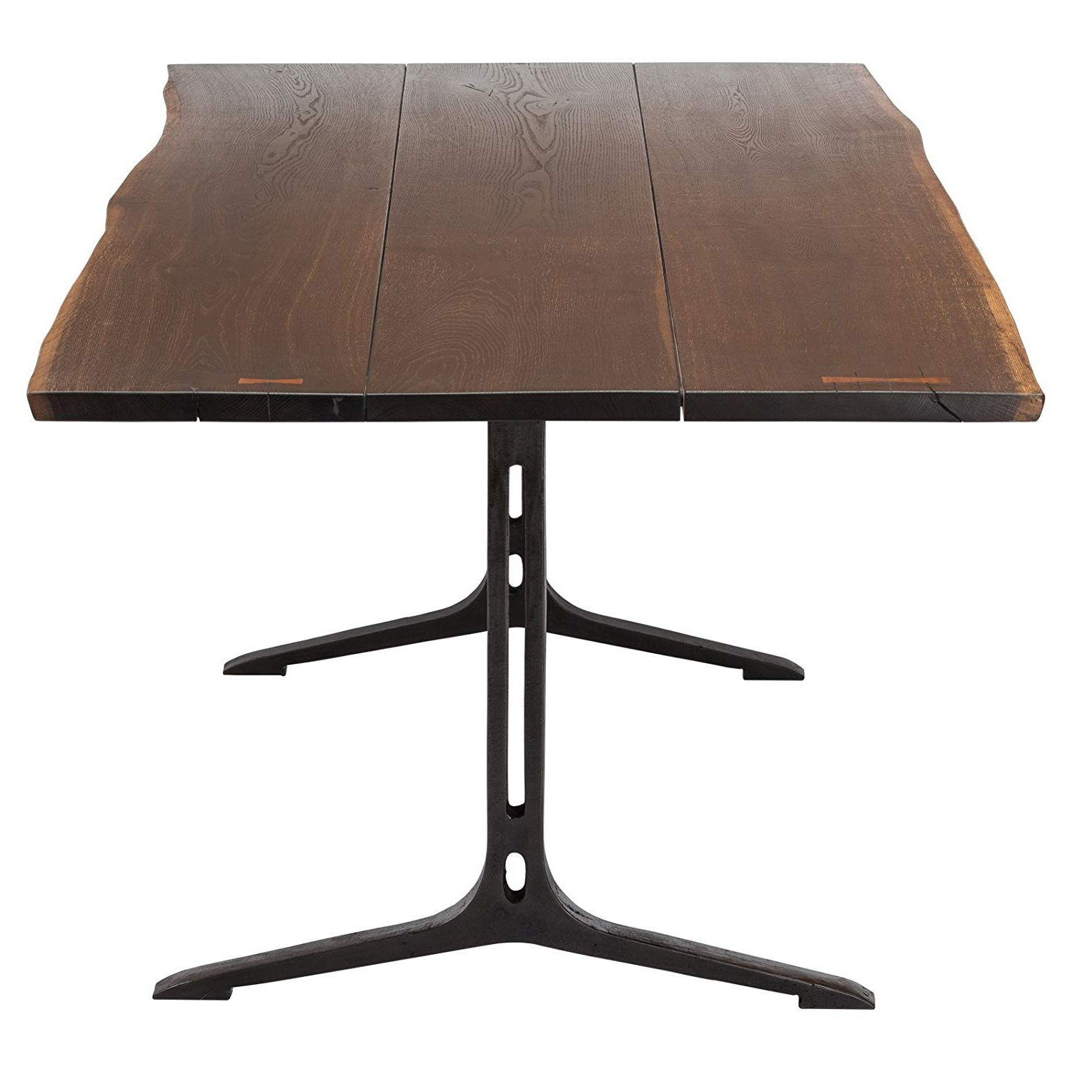 """Recent Dining Tables In Smoked Seared Oak pertaining to Amazon - Nuevo Samara 78"""" Dining Table In Seared Brown"""