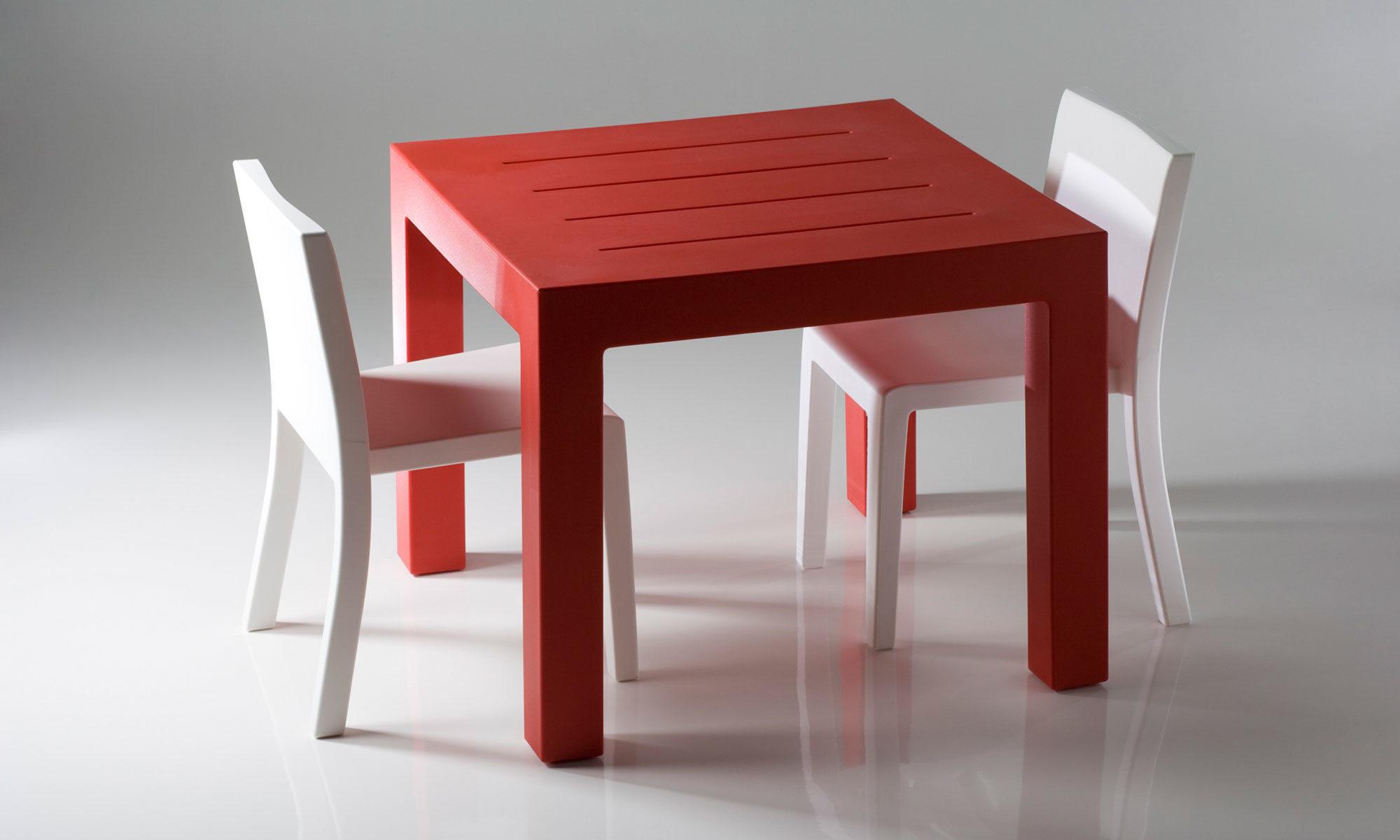 Recent Dom Square Dining Tables inside Jut Square Tablestudio Vondom For Vondom - Residential