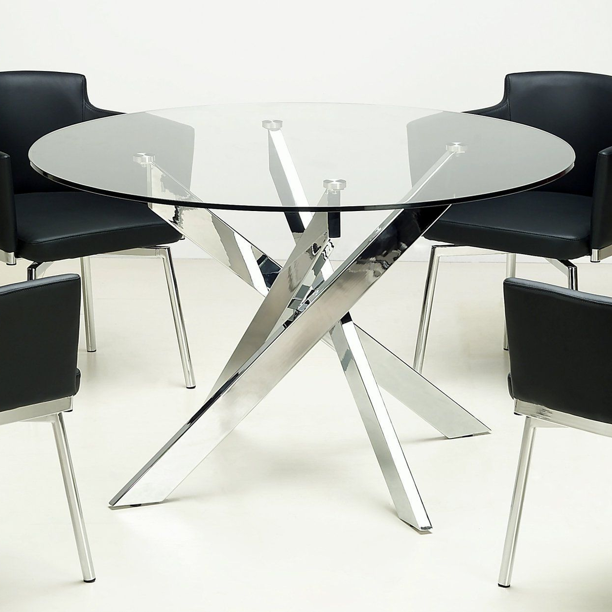 Recent Modern Round Glass Top Dining Tables Intended For Online Shopping – Bedding, Furniture, Electronics, Jewelry (View 10 of 25)