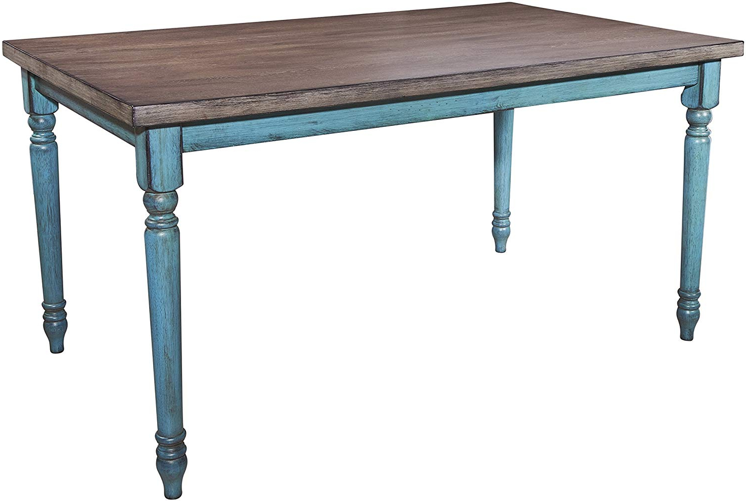 Recent Powell Furniture Willow Dining Table, Multicolor in Distressed Walnut And Black Finish Wood Modern Country Dining Tables