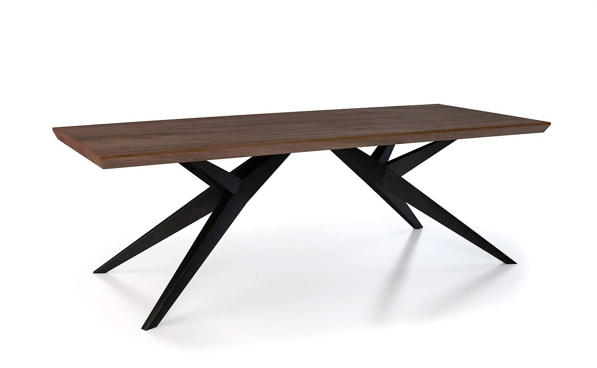 Recent Rectangular Dining Tables Inside Benz Walnut Modern Rectangular Dining Table (View 10 of 25)