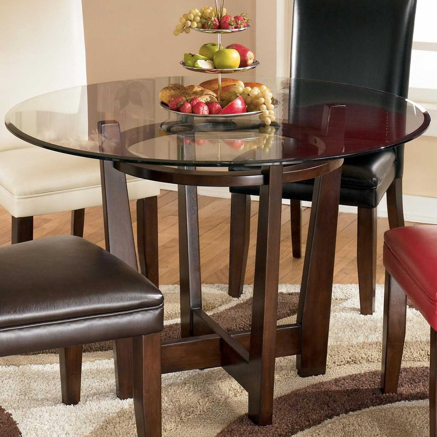 Recent Round Dining Tables With Glass Top Inside Charrell Round Glass Top Table (View 8 of 25)