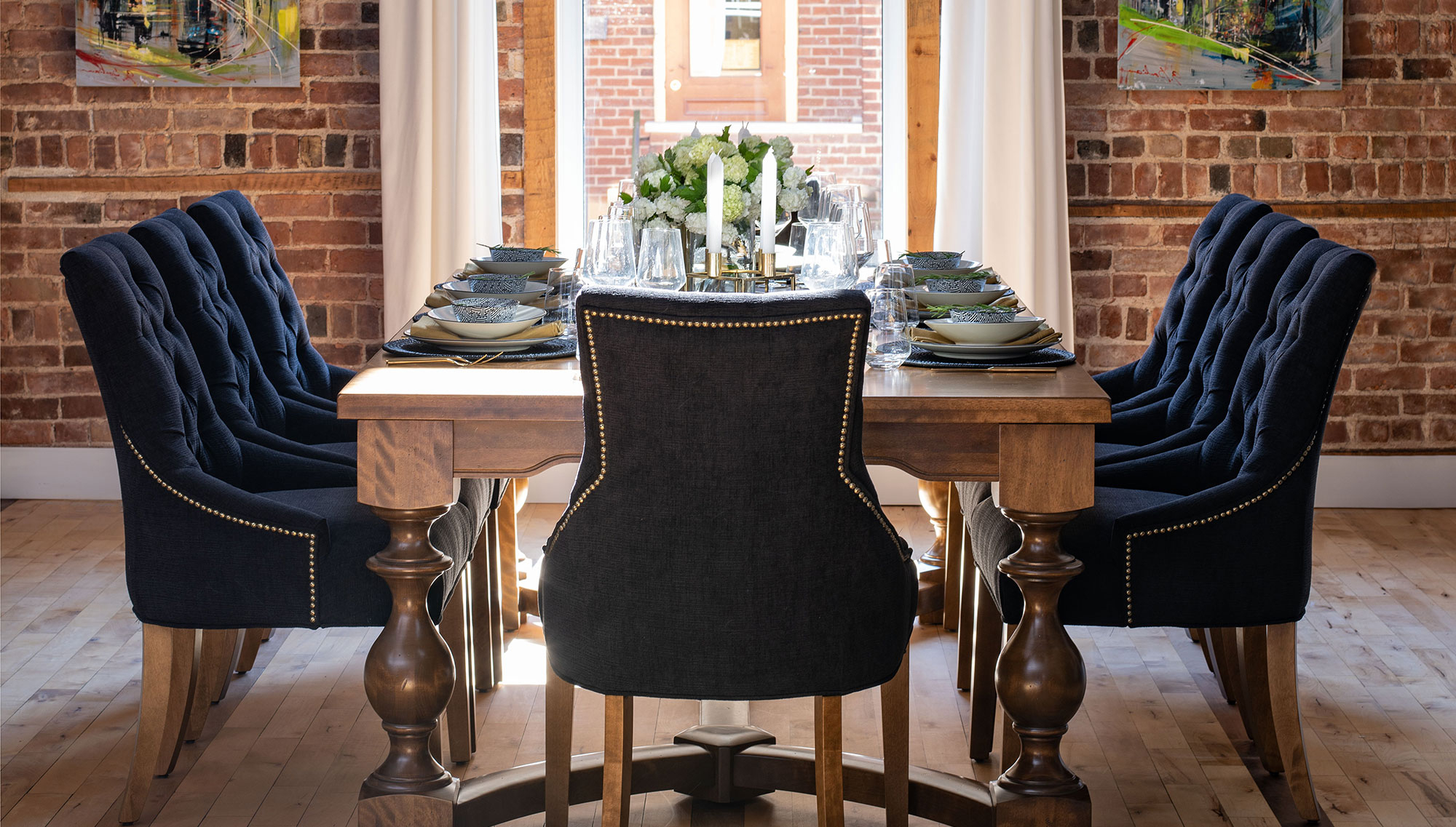 Recent Rustic Country 8-Seating Casual Dining Tables intended for Handcrafted In North America - Kitchen And Dining Room - Canadel