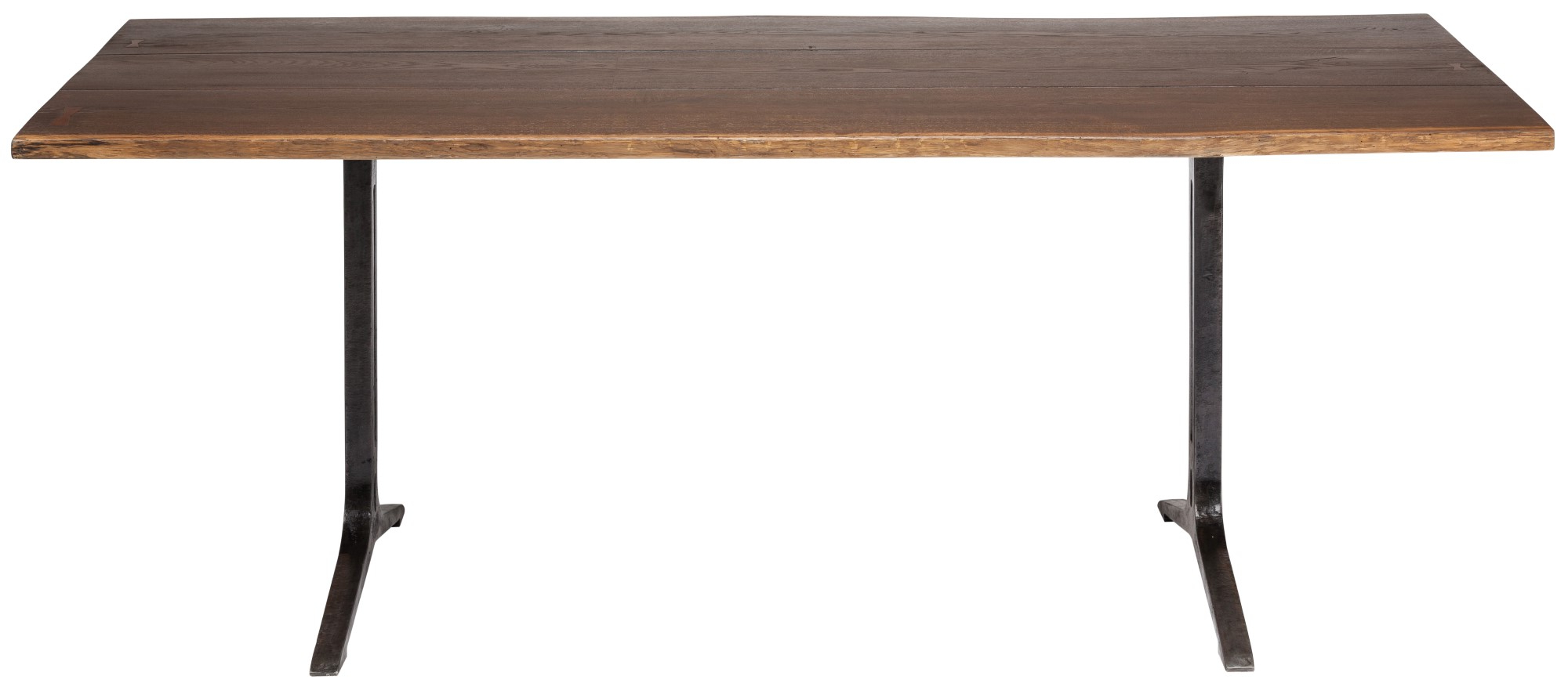 Recent Samara Live Edge Dining Table (Medium - Seared Oak With Black Base) intended for Dining Tables In Smoked/seared Oak