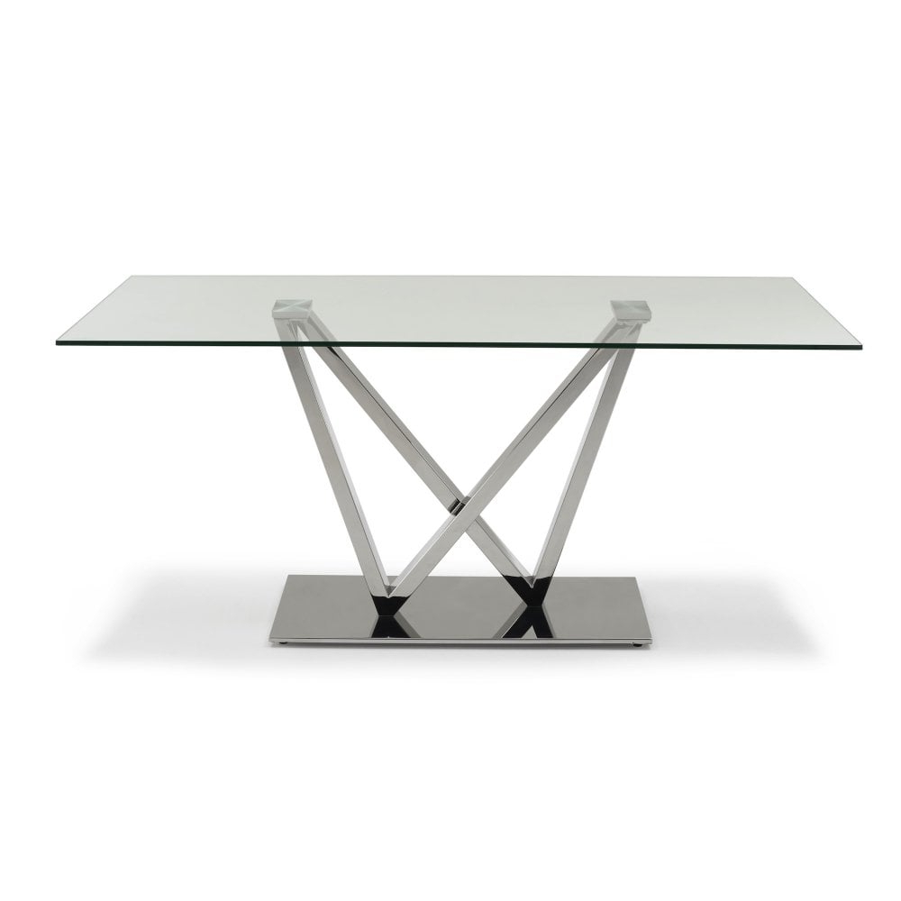 Rectangular Dining Tables inside Current Westwind Glass Rectangular Dining Table - Seats 6