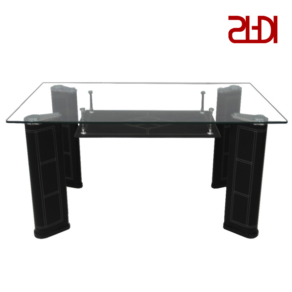 Rectangular Glasstop Dining Tables for Well known 6Mm Frosted White Tempered Glass Rectangular Glass Top Dining Tables Sets -  Buy Dining Tables Sets,white Tempered Glass Rectangular Glass Top Dining