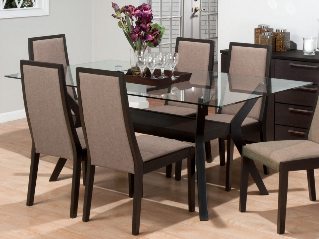 Rectangular Glasstop Dining Tables with Well-liked Rectangular Glass Top Dining Tables Room