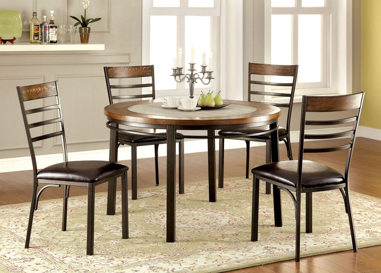 Round for Transitional 4-Seating Drop-Leaf Casual Dining Tables