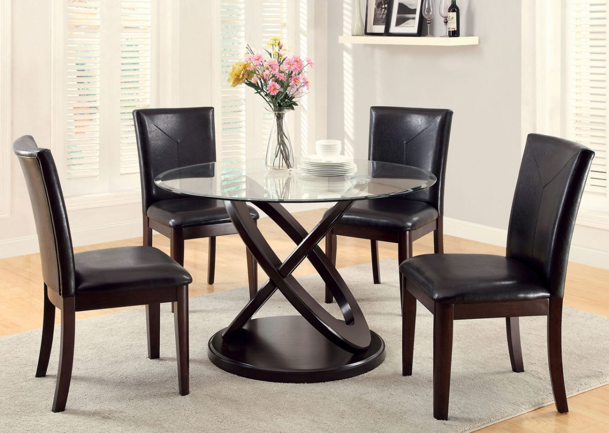 Round Glass Top Dining Tables for Popular Round Glass Top Dining Table For 8 In Marvellous Glass Room