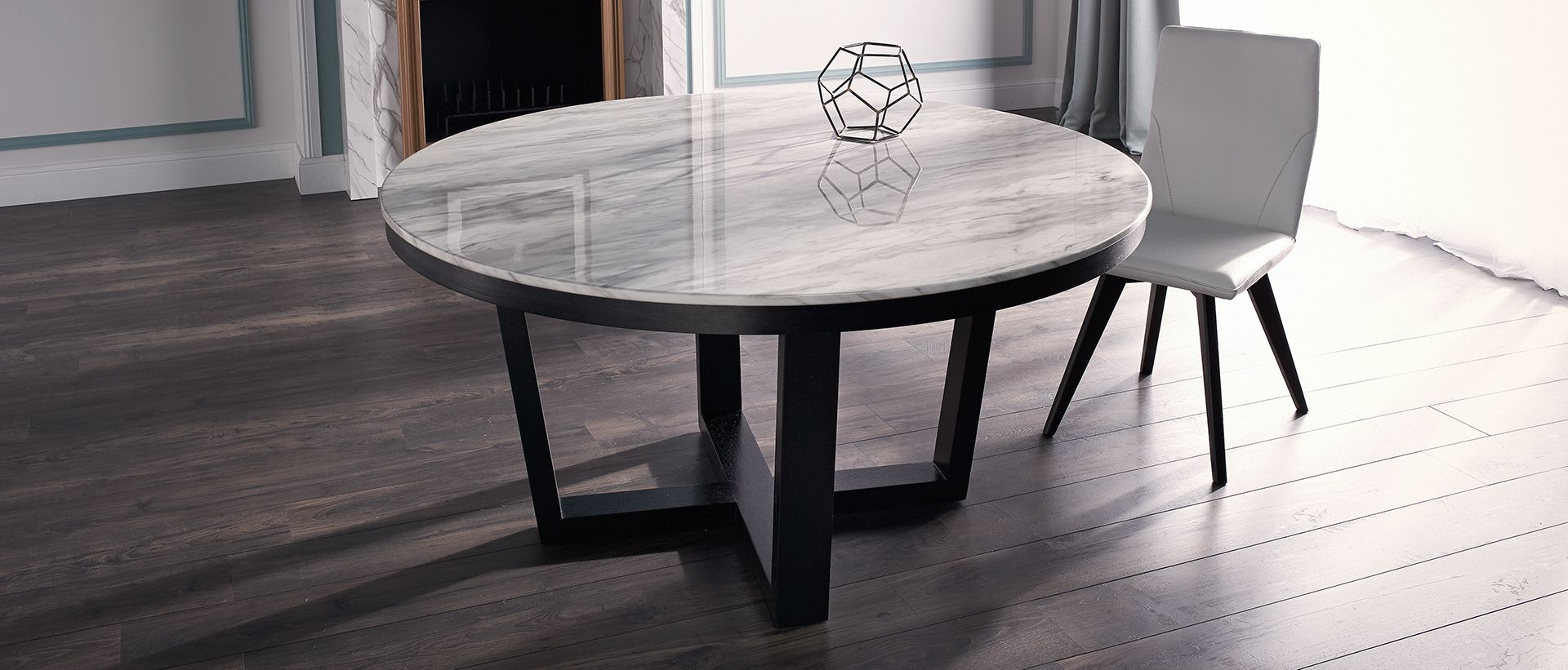 Round, Wood & Concrete Tables