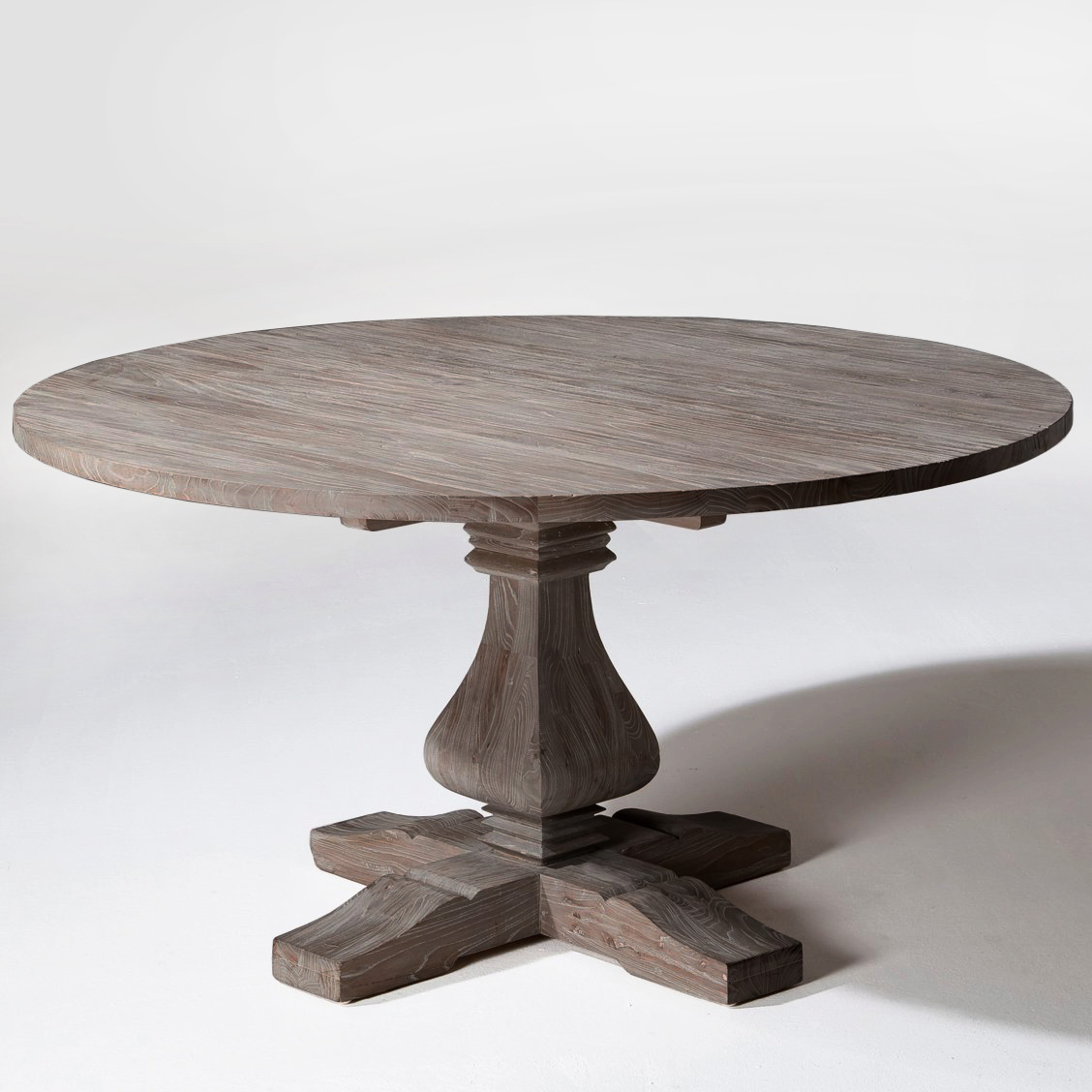 Round Wood Dining Table And Its Benefits – Home Decor Ideas Within Fashionable Small Round Dining Tables With Reclaimed Wood (View 8 of 25)