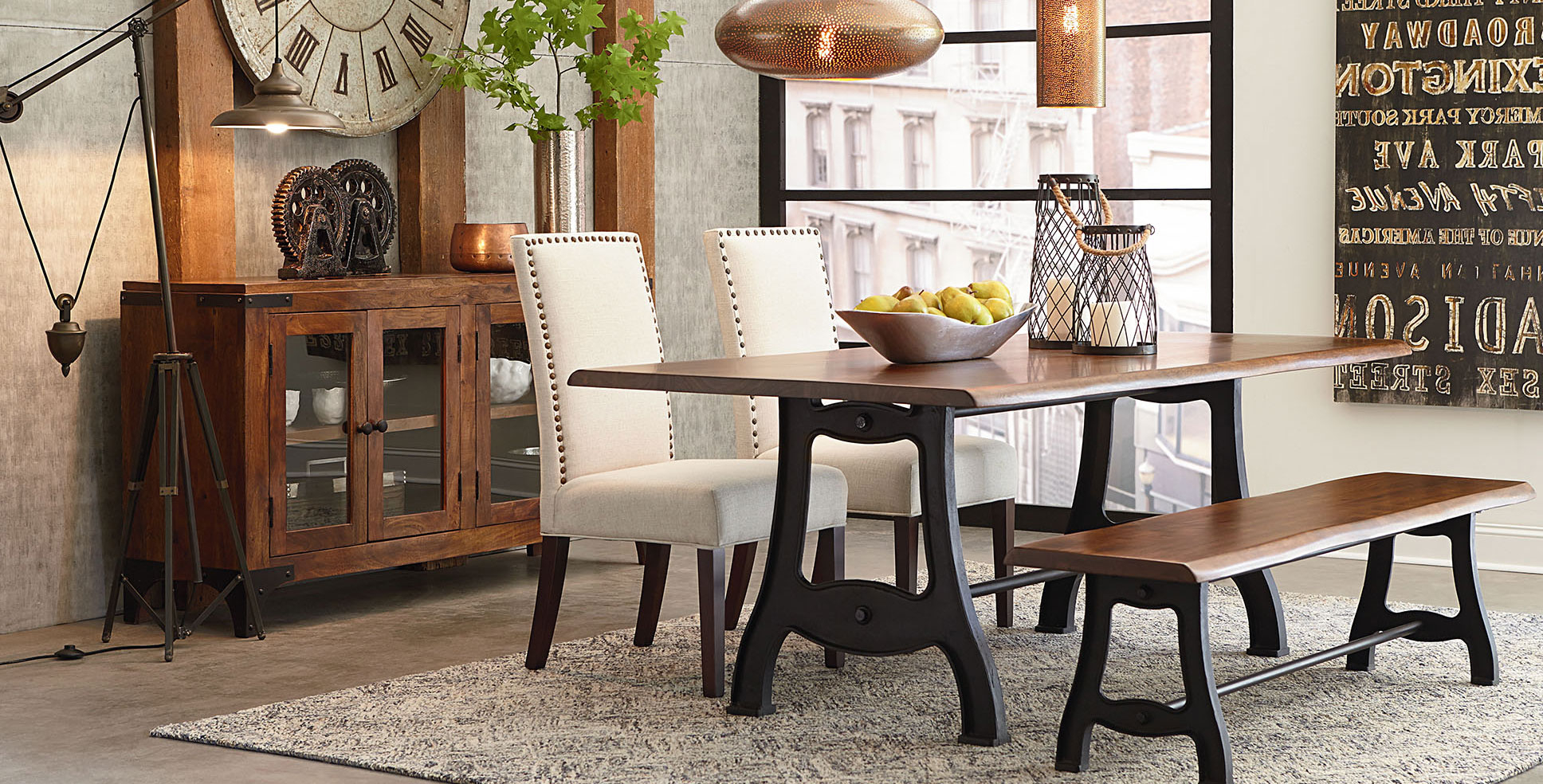 Rustic, Farmhouse, Vintage,mid-Century Modern, & Industrial throughout Most Recent Rustic Mid-Century Modern 6-Seating Dining Tables In White And Natural Wood