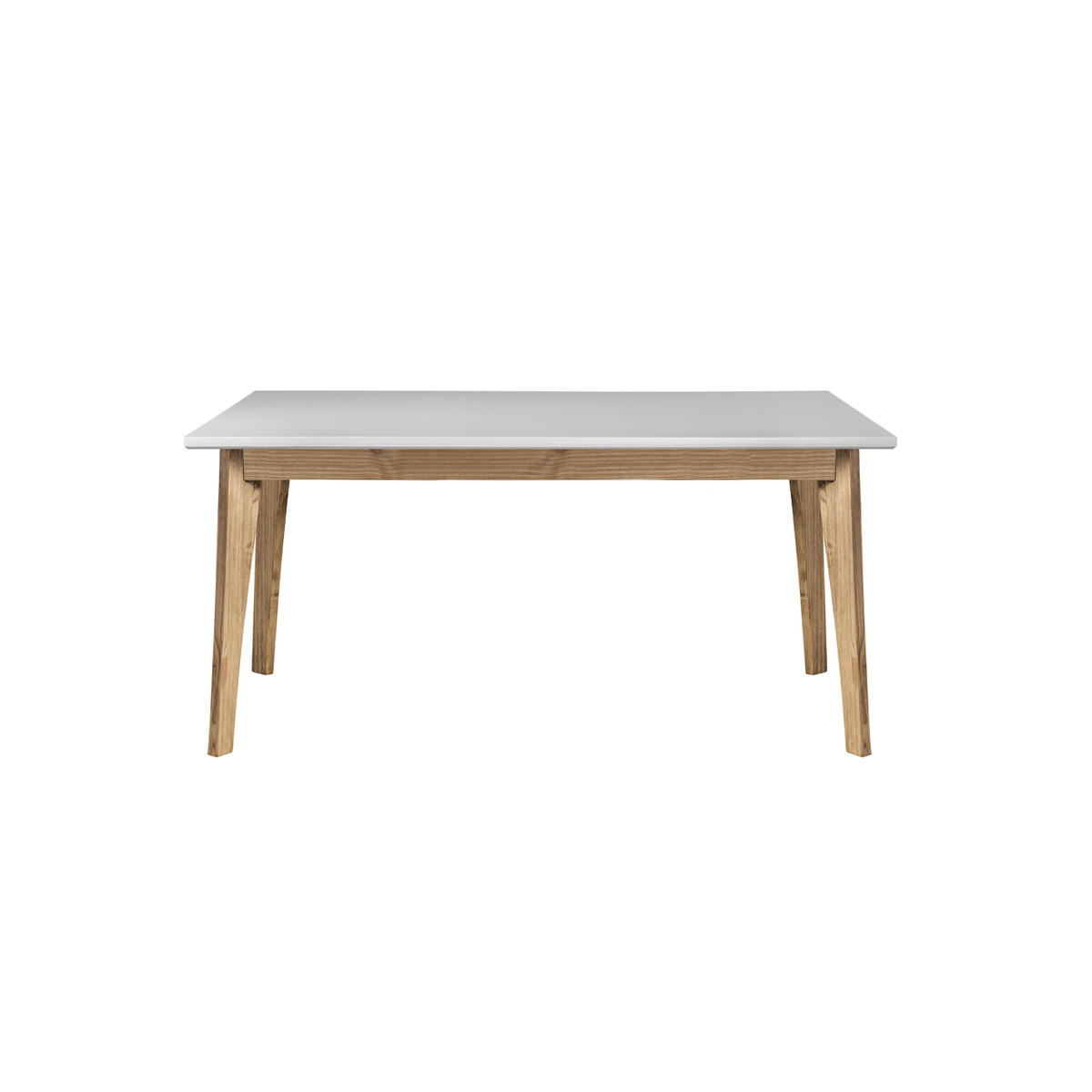 Featured Photo of Rustic Mid Century Modern 6 Seating Dining Tables In White And Natural Wood