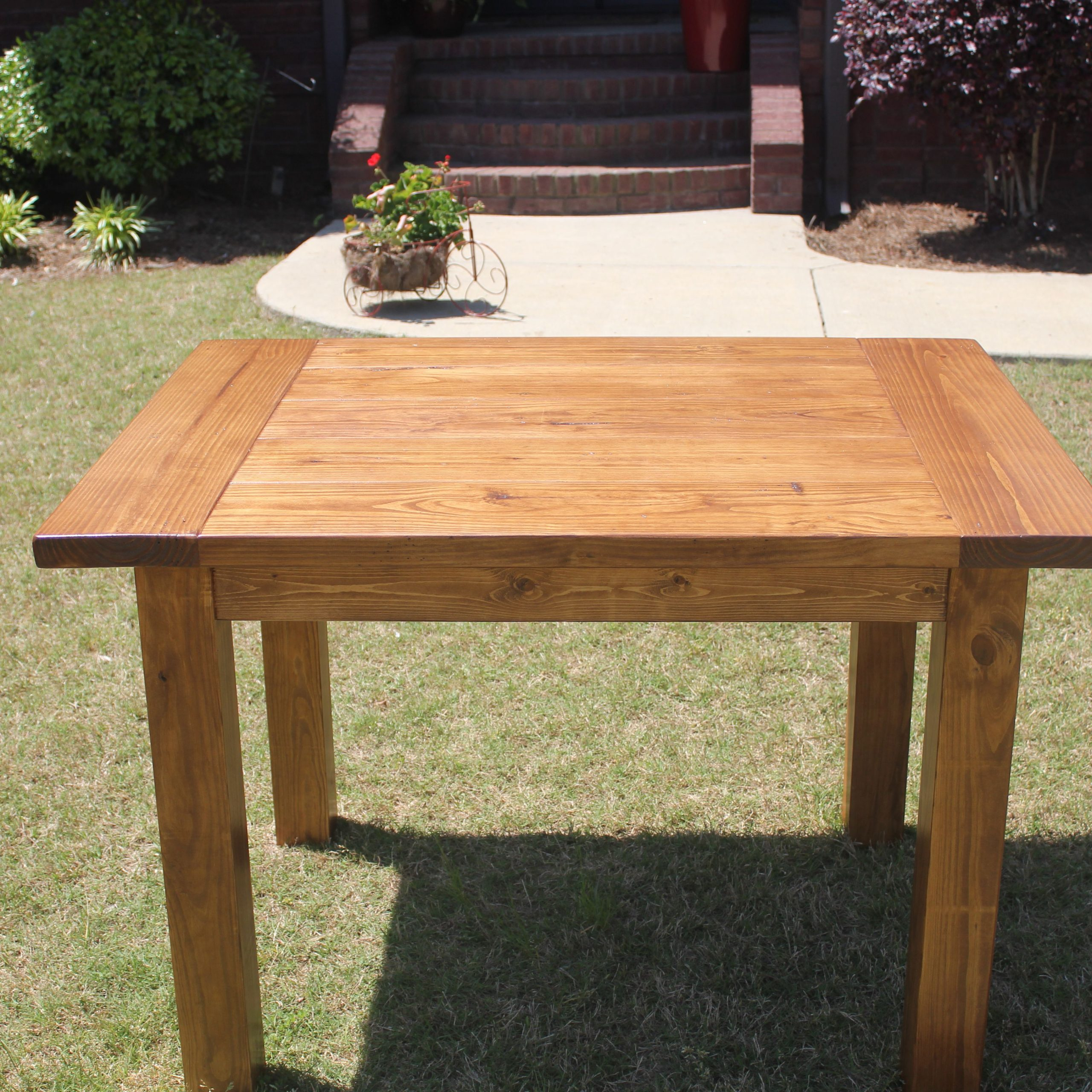 Rustic Pine Small Dining Tables regarding Famous Farm Style Small Kitchen Table. Solid Pine Top And 4X4 Pine