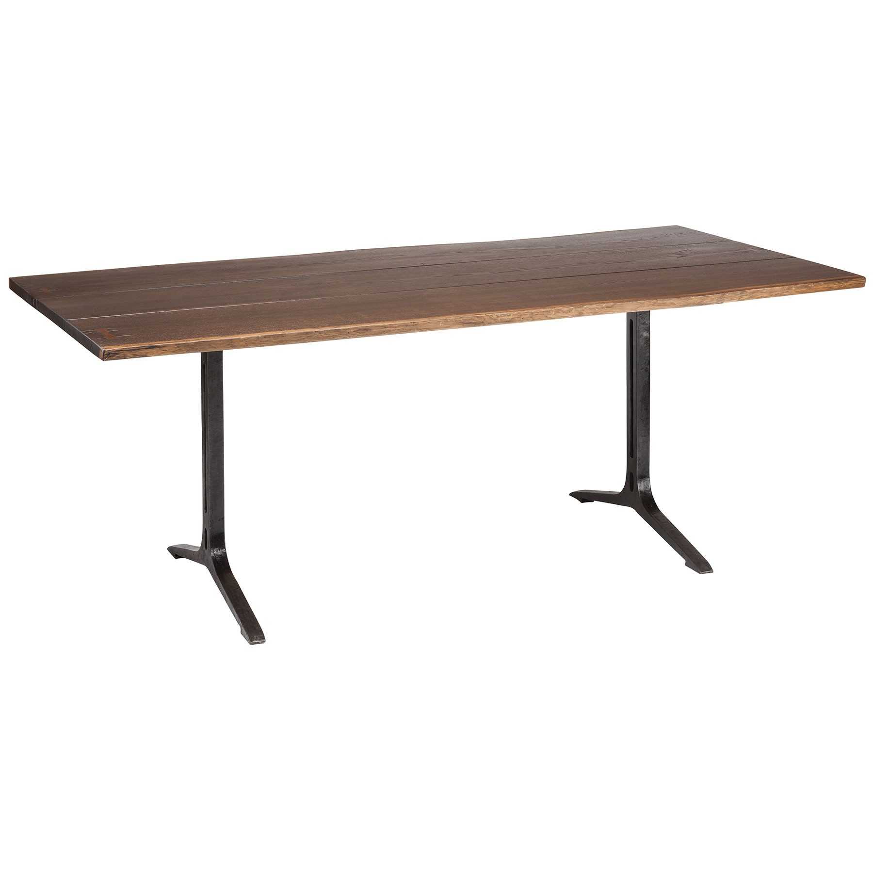 Samara Dining Table – Seared Oak / Black Intended For Famous Dining Tables In Smoked/seared Oak (View 4 of 25)