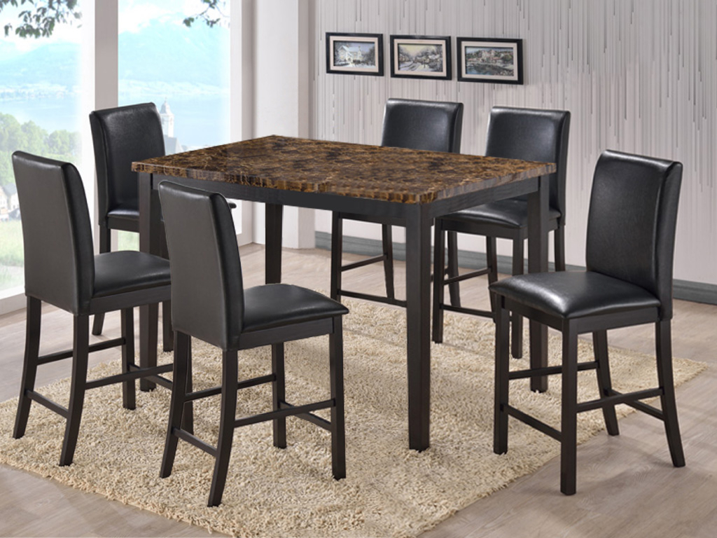 Shalom Furniture Regarding Faux Marble Finish Metal Contemporary Dining Tables (View 21 of 25)