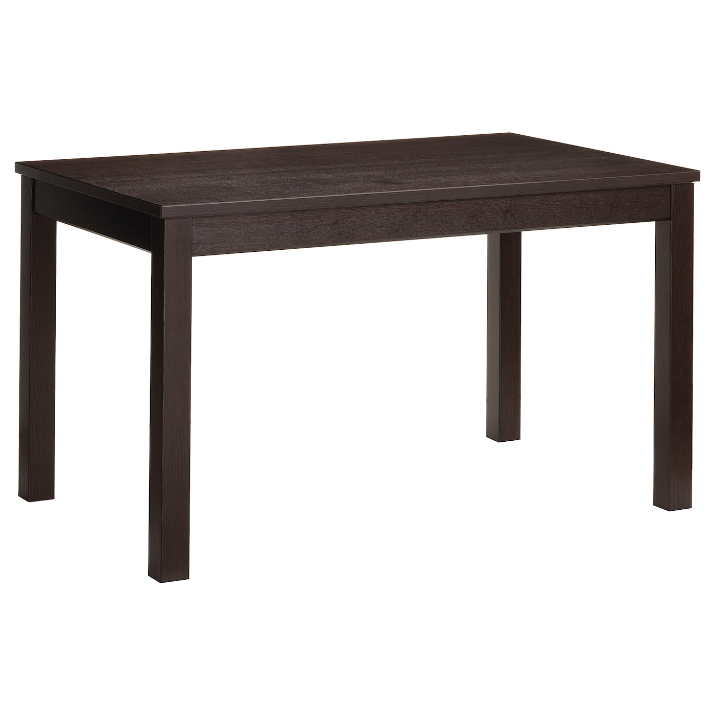 Small Dining Tables With Rustic Pine Ash Brown Finish Intended For Well Known Extendable Table Laneberg Brown (View 6 of 25)