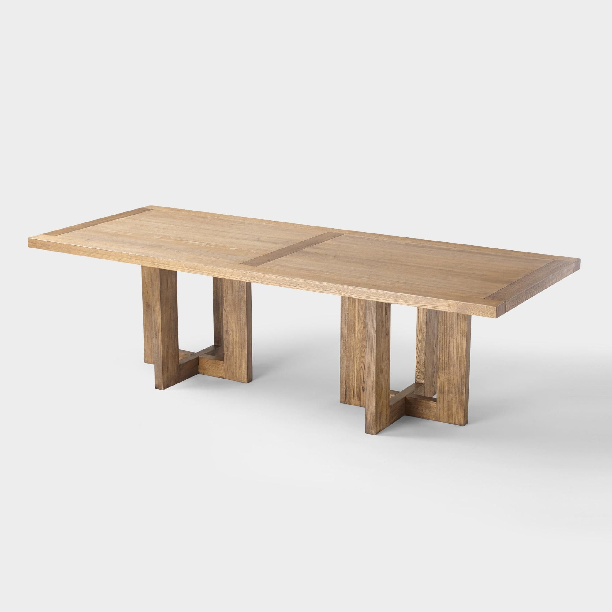 Small Dining Tables With Rustic Pine Ash Brown Finish Regarding 2020 Ash Ruby Dining Tableworld Market (View 9 of 25)