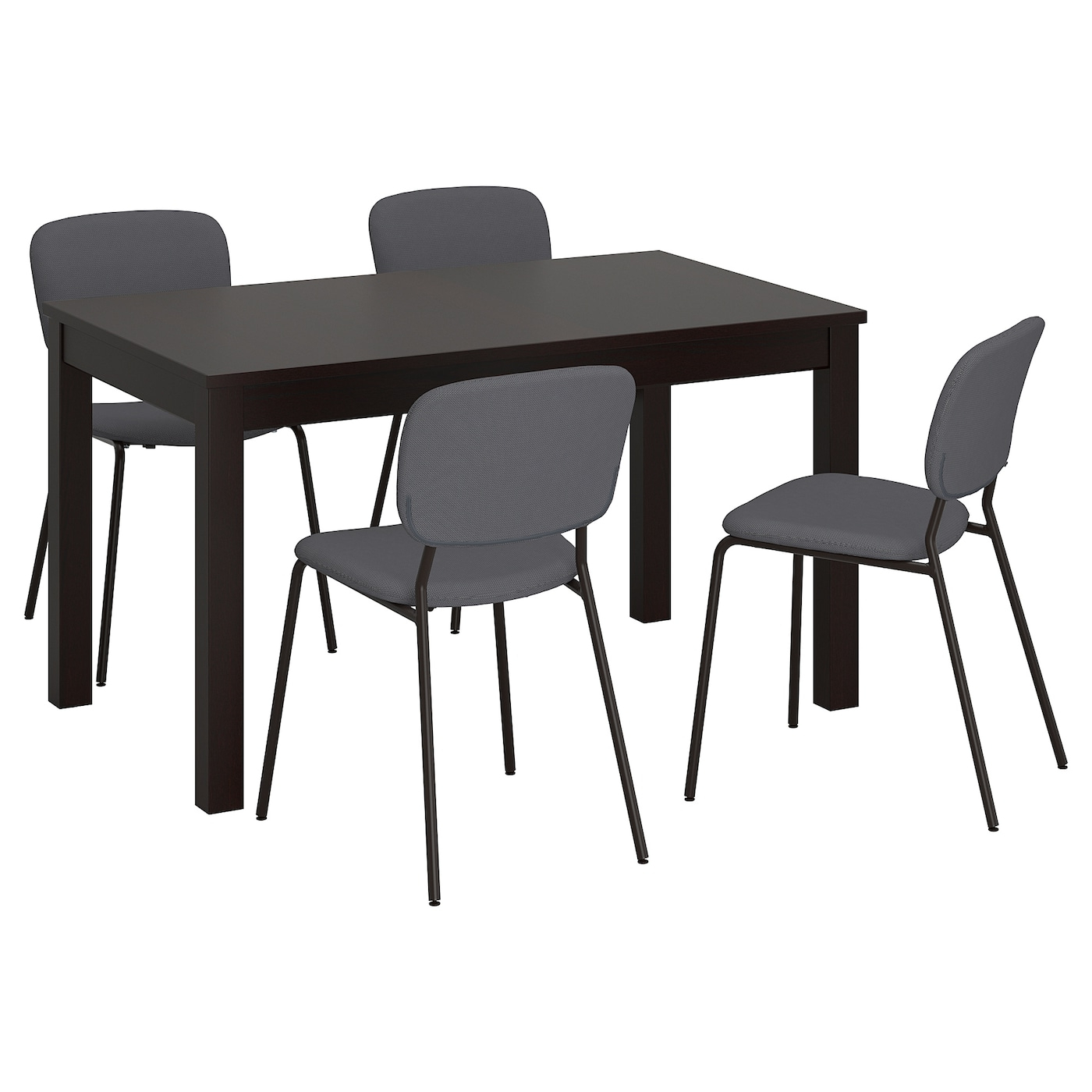 Small Dining Tables With Rustic Pine Ash Brown Finish Regarding Trendy Table And 4 Chairs Laneberg / Karljan Brown, Dark Grey Dark Grey (View 22 of 25)
