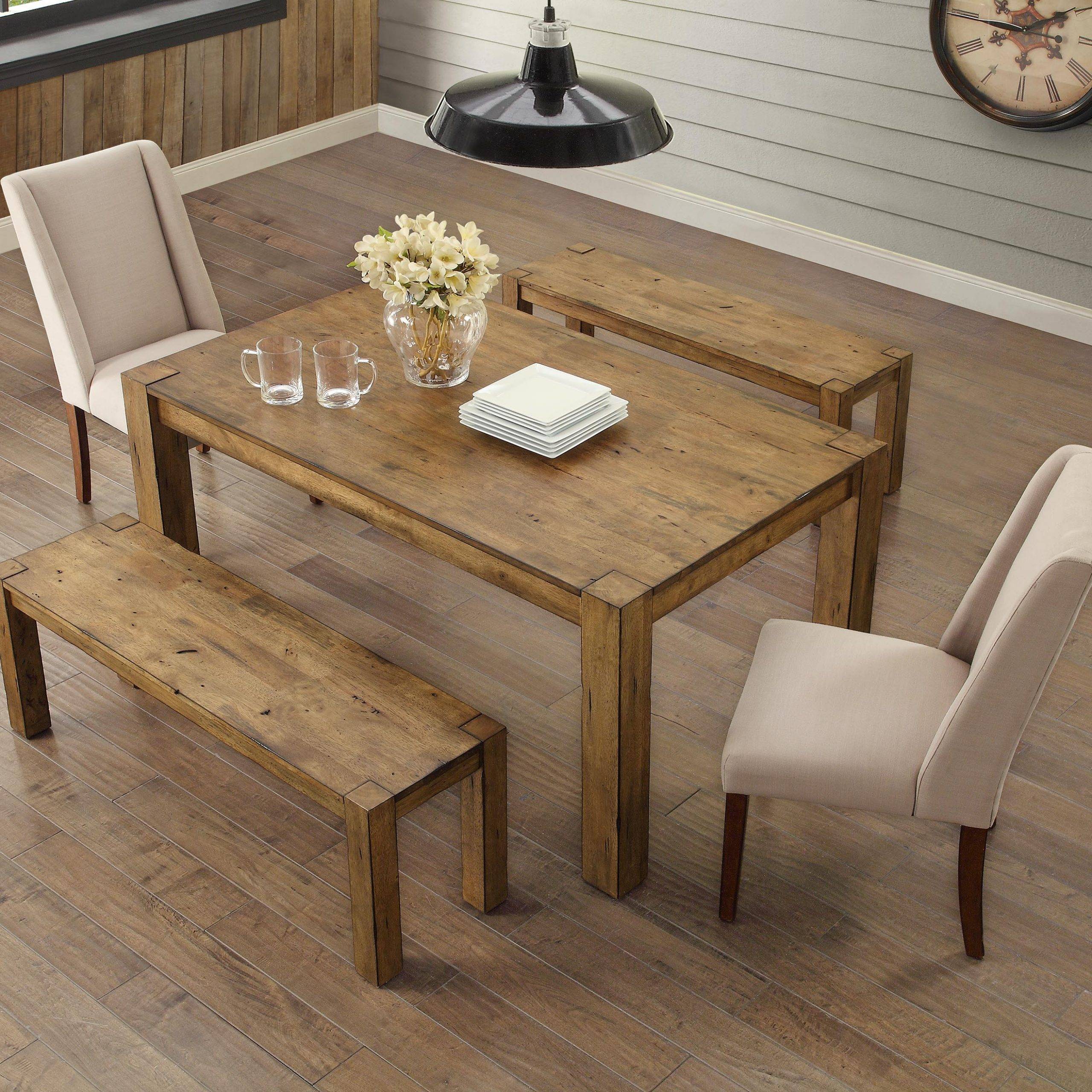 Small Dining Tables With Rustic Pine Ash Brown Finish With Regard To Preferred Better Homes & Gardens Bryant Dining Table, Rustic – Walmart (View 13 of 25)