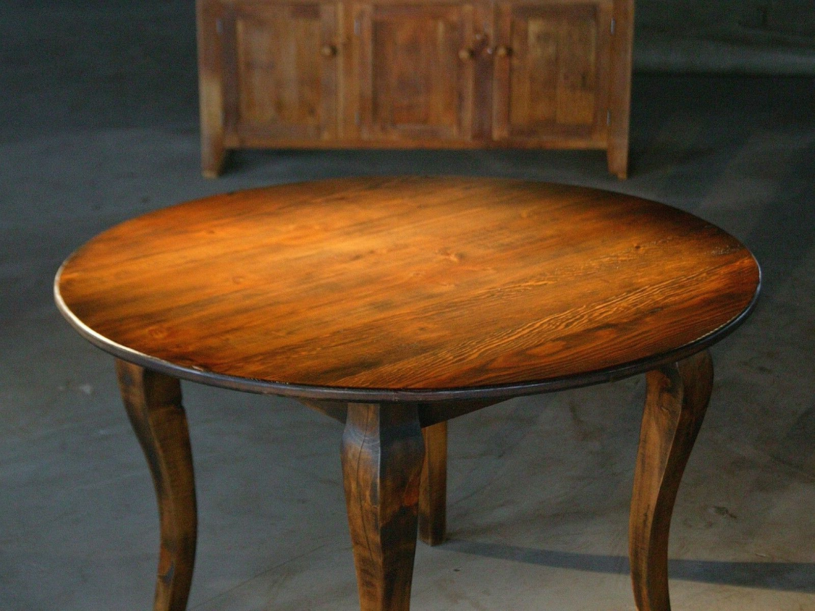 Small Round Dining Tables With Reclaimed Wood Inside Recent Hand Crafted Round End Table From Reclaimed Old Pine (View 7 of 25)