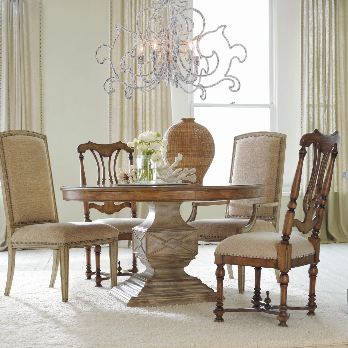 Small Round Dining Tables With Reclaimed Wood Within Well Known White Round Pedestal Dining Table Dining Rooms Wonderful (View 17 of 25)