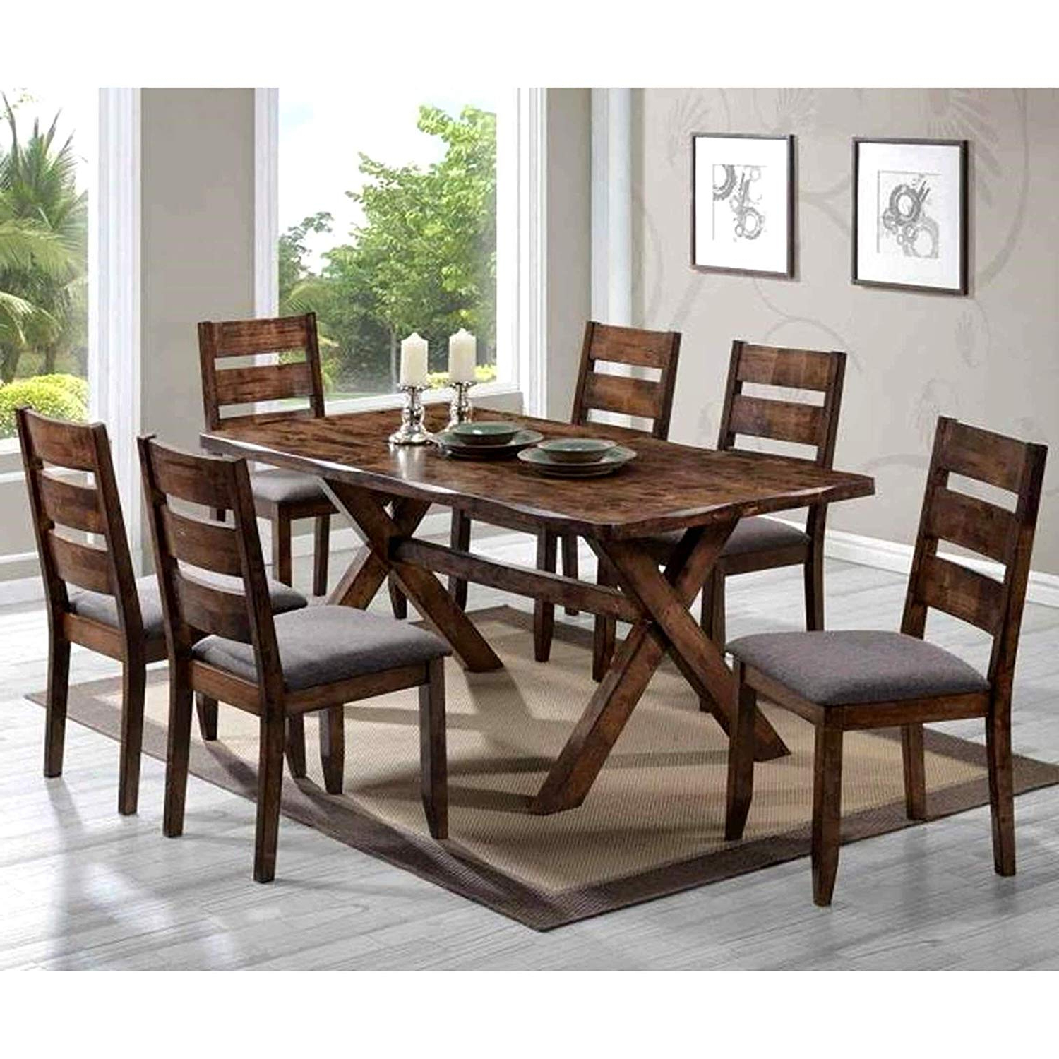 Small Rustic Look Dining Tables With Regard To Newest Amazon – A Line Furniture Milano Rustic Knotty Shaped (View 11 of 25)
