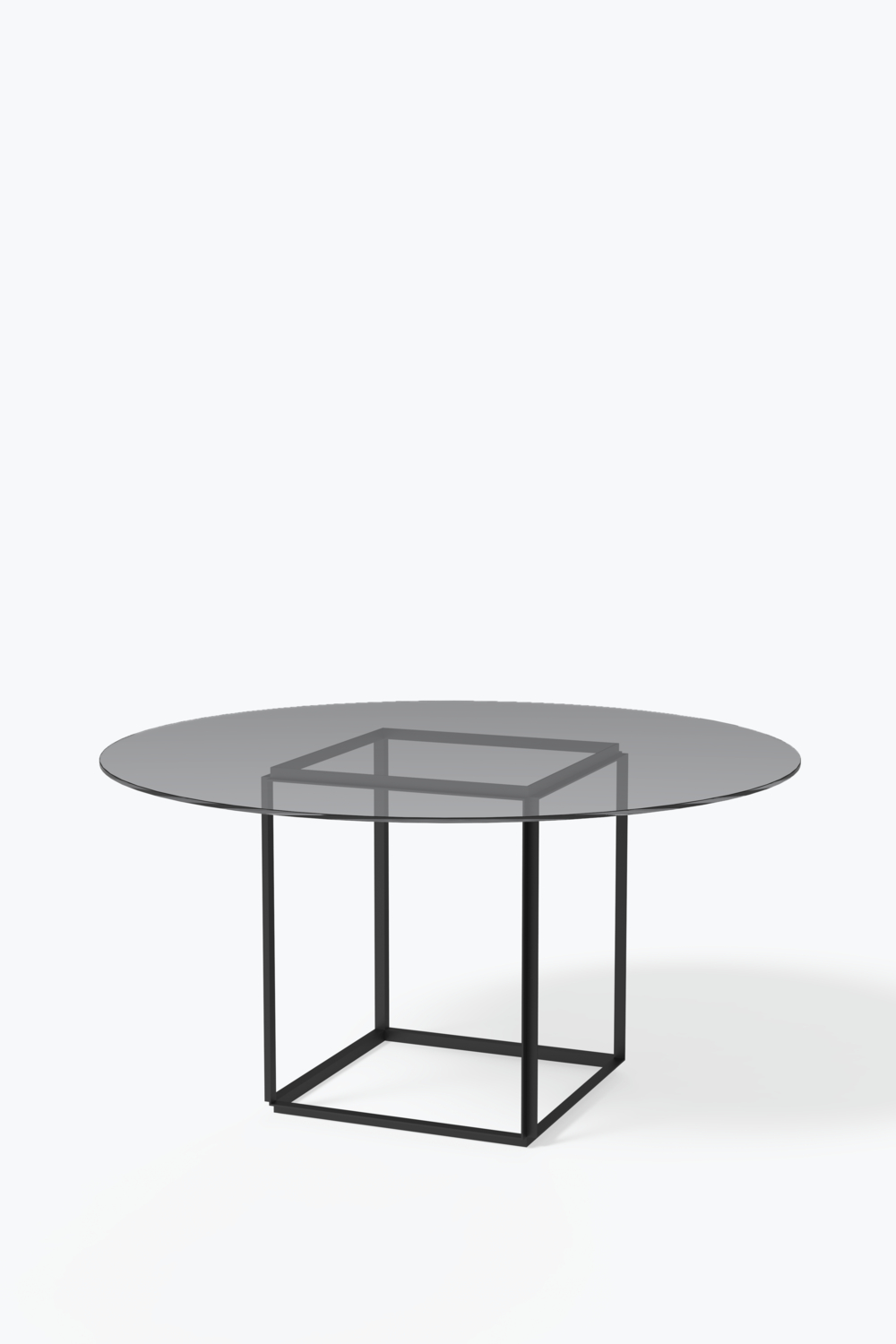 Smoked Oval Glasstop Dining Tables With Regard To Latest Florence Dining Table – Ø 145 Cm W (View 5 of 25)