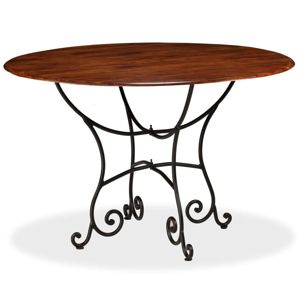 Solid Acacia Wood Dining Tables For Most Up To Date Amazon – Vidaxl Solid Acacia Wood Dining Table With (View 24 of 25)