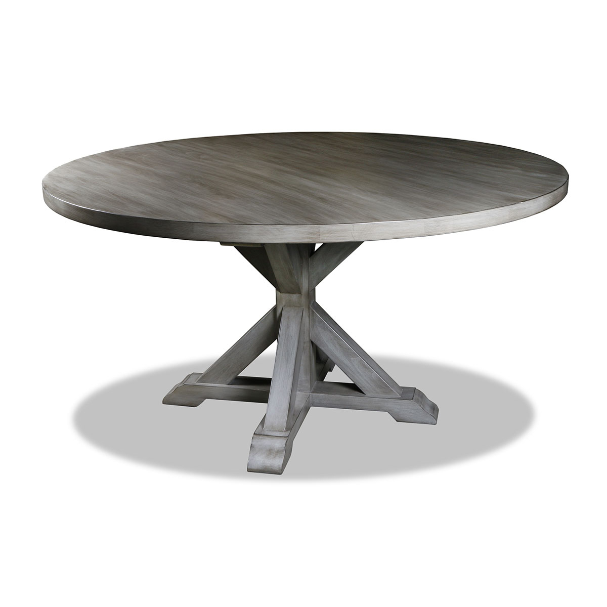 Solid Wood Circular Dining Tables White Intended For Well Liked Treasure Reclaimed Wood Round Dining Table (View 15 of 25)