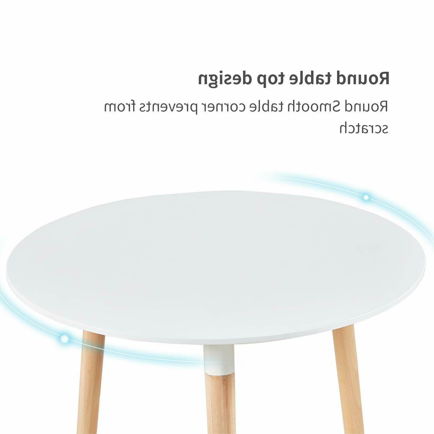 Solid Wood Circular Dining Tables White Within Favorite White Round Dining Table And 4 Dining Chairs Retro Solid (View 23 of 25)