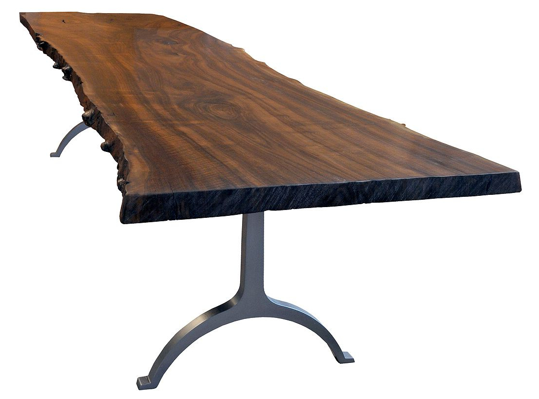 Featured Photo of Iron Wood Dining Tables With Metal Legs