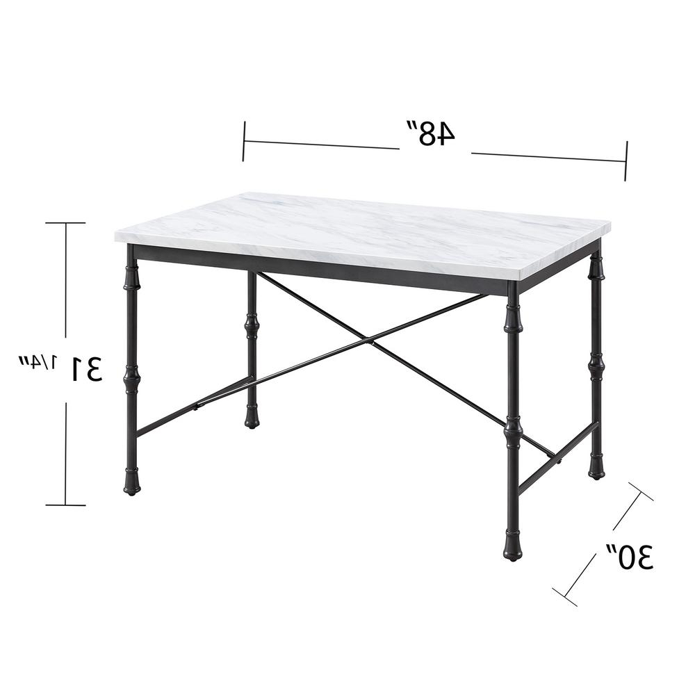 Southern Enterprises Sorent White Faux Marble Dining Table Throughout Well Known Faux Marble Finish Metal Contemporary Dining Tables (View 21 of 25)