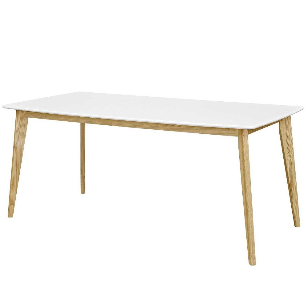 """Stratum 71"""" Dining Table White – Modway In (View 10 of 25)"""