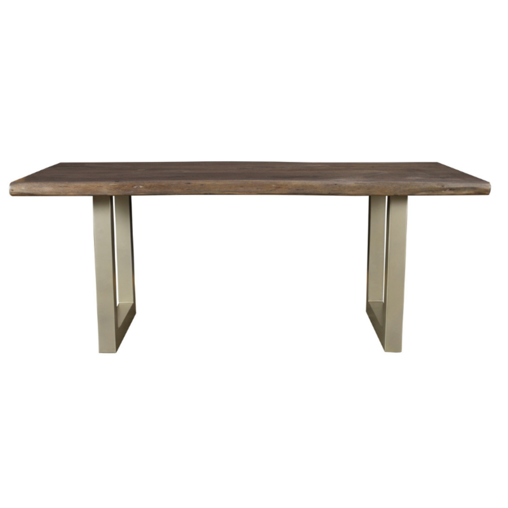 Taj Dining Table, Solid Acacia Wood And Metal (View 20 of 25)