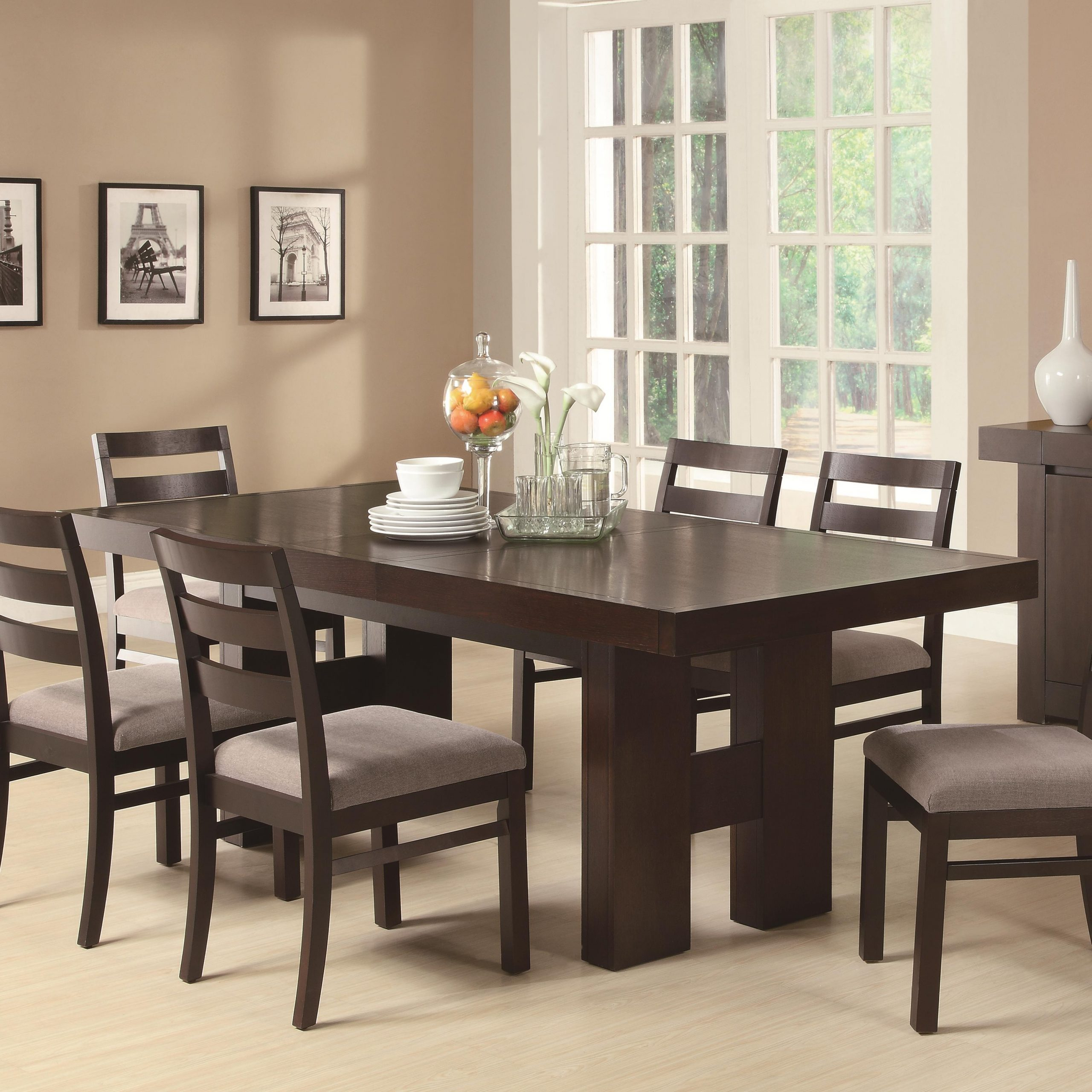 The Classy For Current Cappuccino Finish Wood Classic Casual Dining Tables (View 20 of 25)