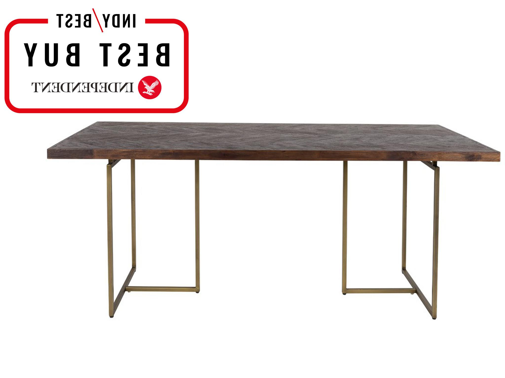 The Independent Throughout Acacia Top Dining Tables With Metal Legs (View 9 of 25)