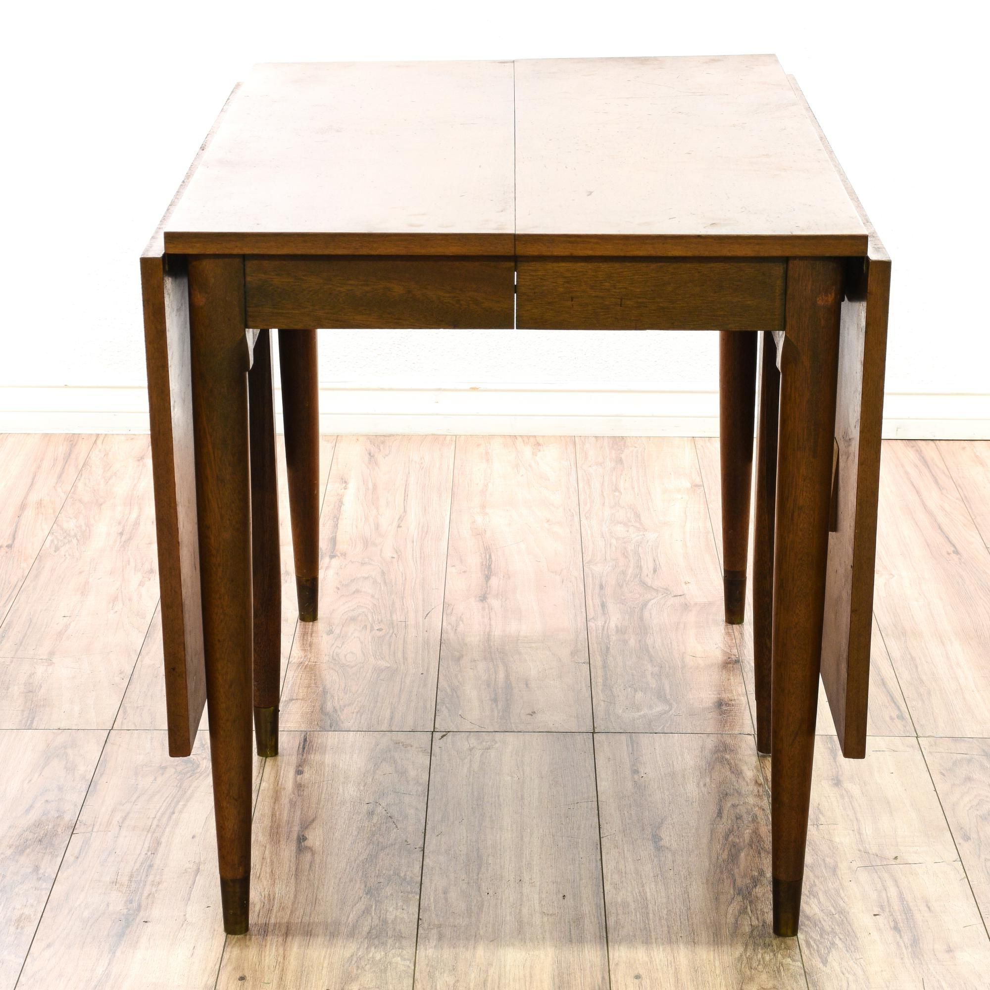 This Dining Table Is Featured In A Solid Wood With A Glossy Within Famous Mid Century Rectangular Top Dining Tables With Wood Legs (View 18 of 25)