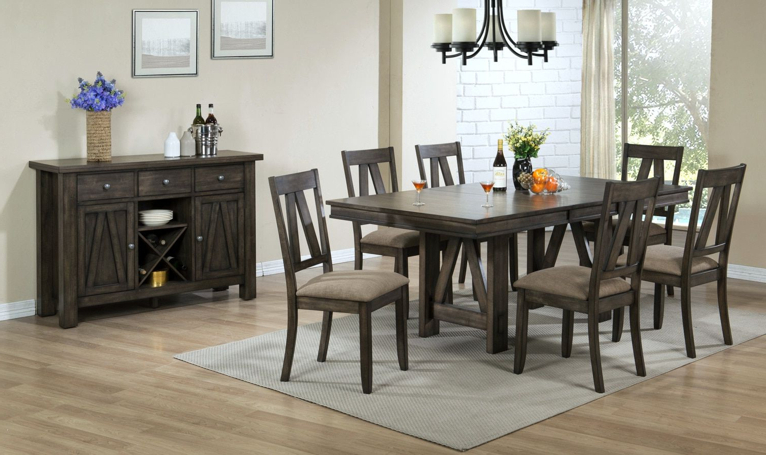 Thompson 7 Piece Dining Room Set – Espresso (View 3 of 17)