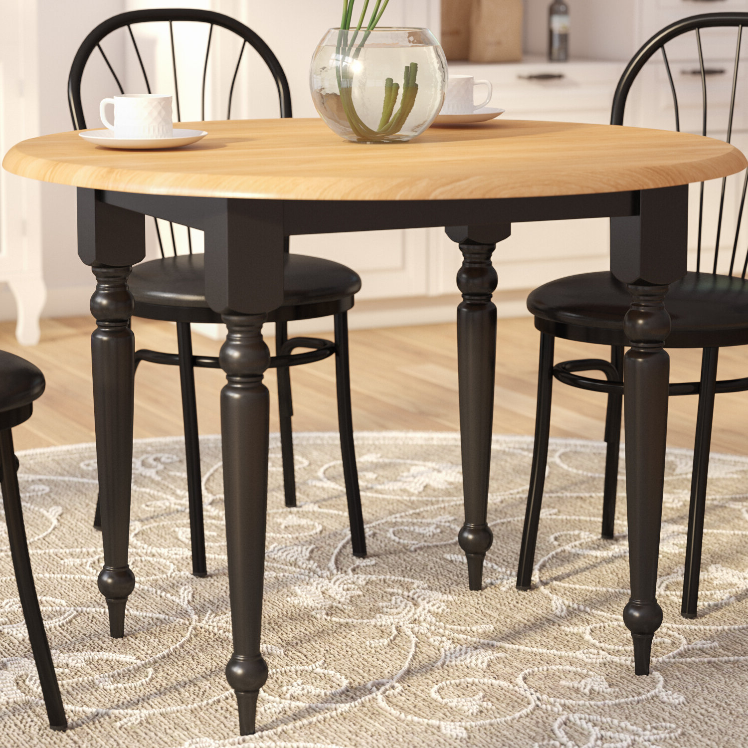 Transitional 4 Seating Double Drop Leaf Casual Dining Tables Within Most Current Andover Mills Belle Haven Extendable Drop Leaf Dining Table (View 10 of 25)