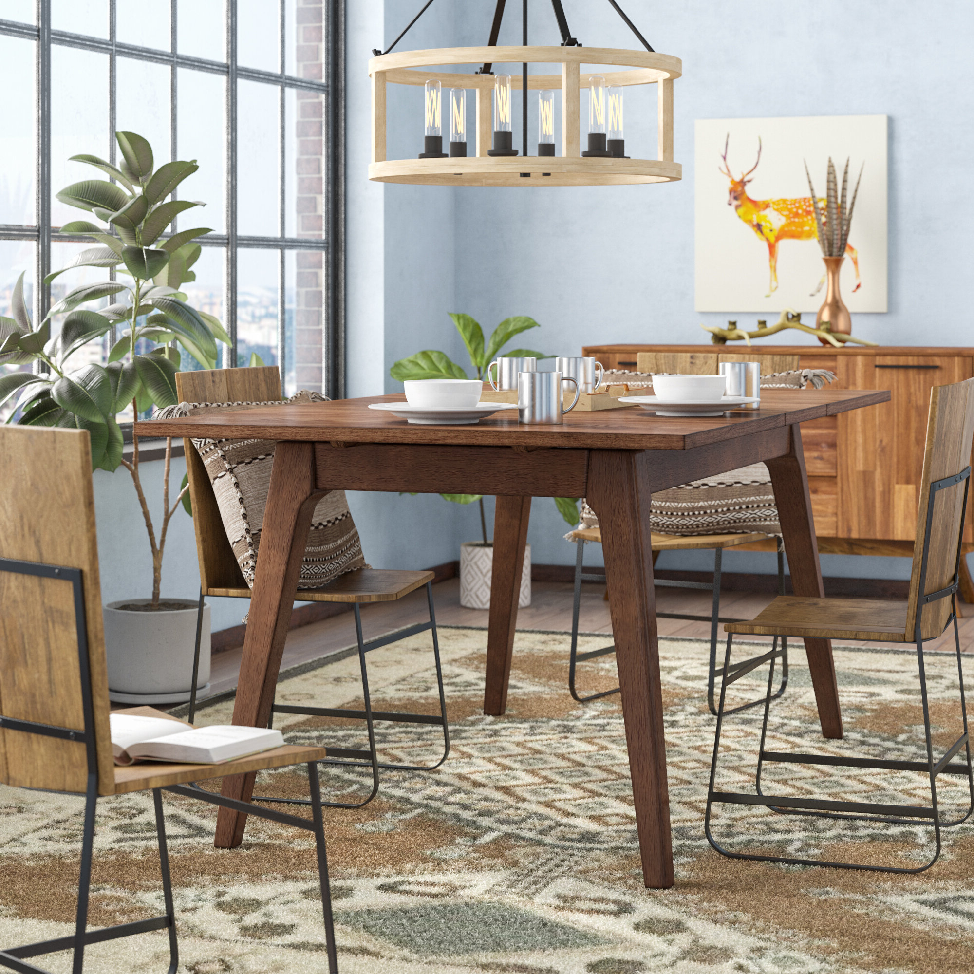 Transitional 4 Seating Drop Leaf Casual Dining Tables Intended For Trendy Union Rustic Lehto Drop Leaf Dining Table & Reviews (View 21 of 25)