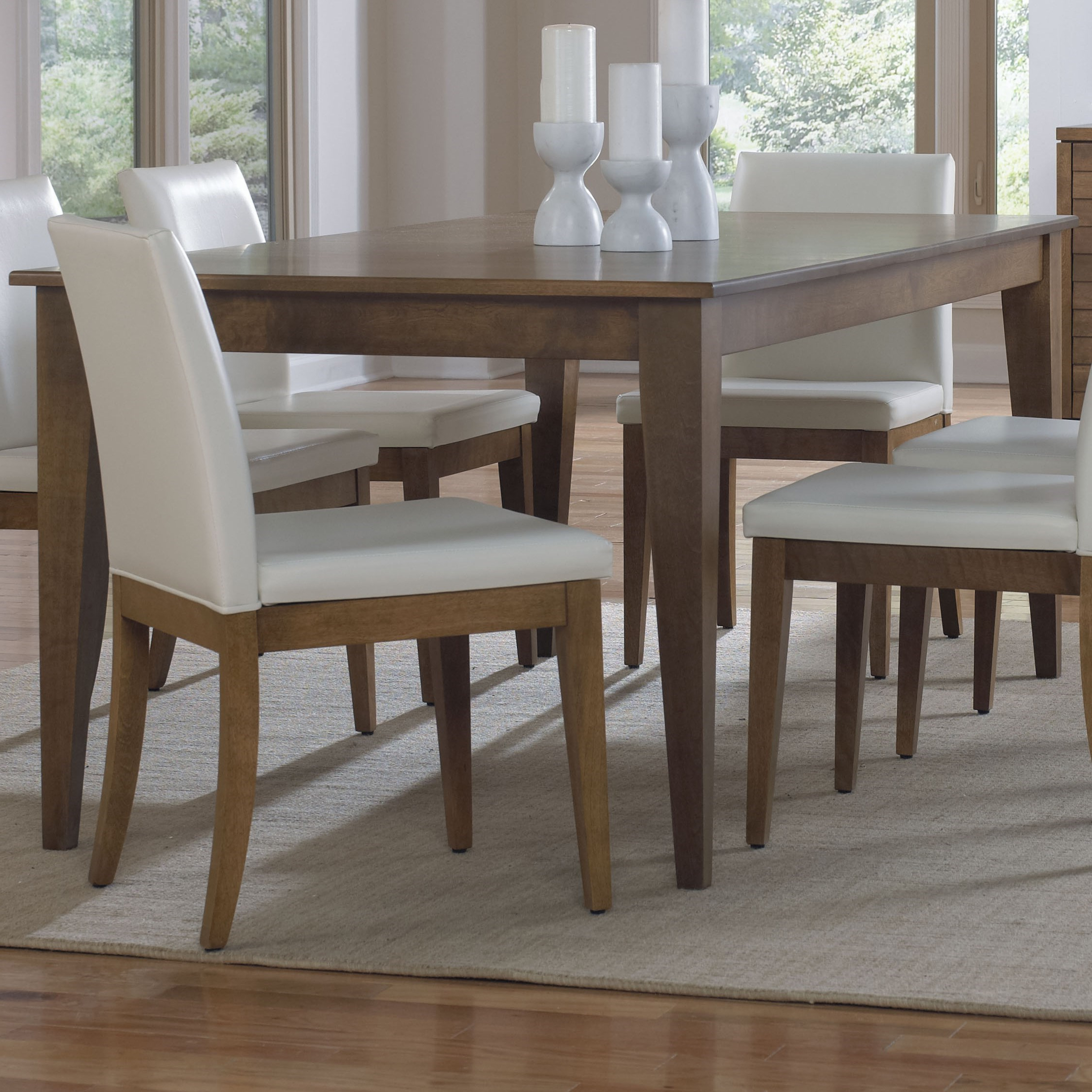 Transitional 4 Seating Drop Leaf Casual Dining Tables With Well Known Canadel Custom Dining Customizable Rectangular Dining Table (View 21 of 25)