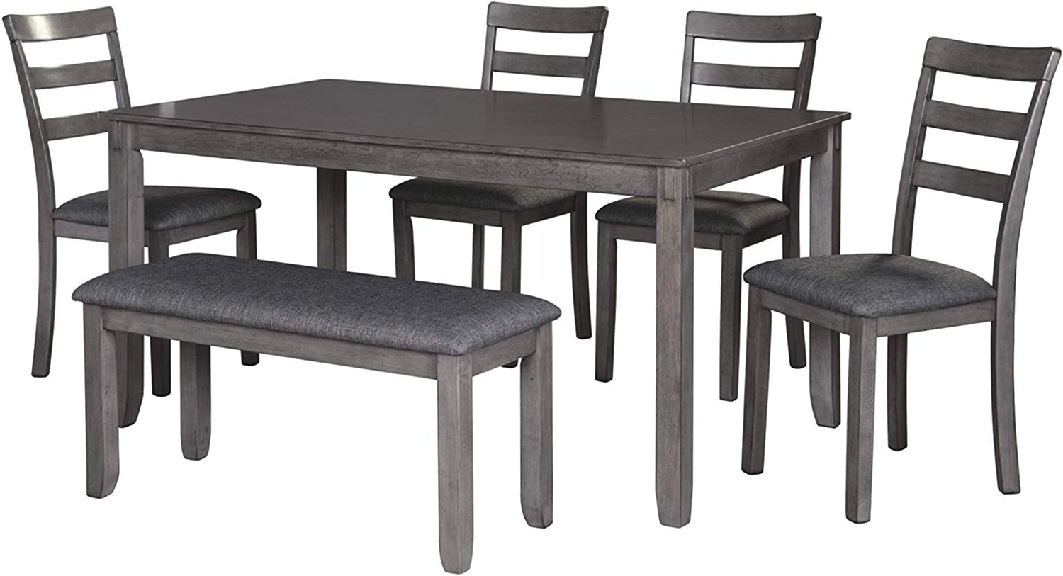 Transitional 6 Seating Casual Dining Tables Inside 2019 Signature Designashley Bridson Dining Table, Gray (View 4 of 25)