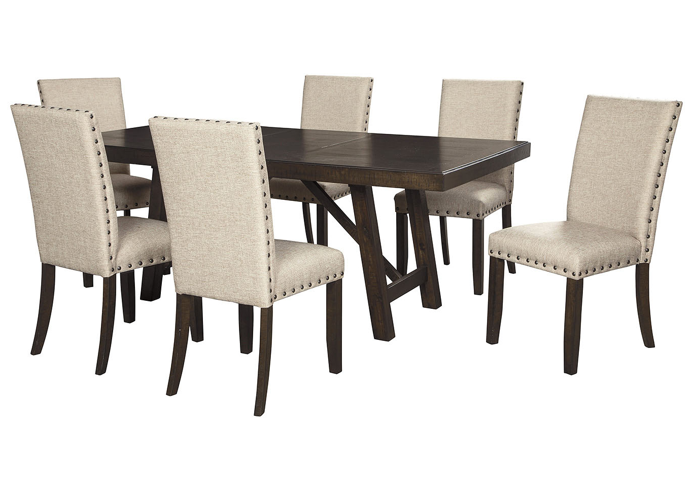 Transitional 6 Seating Casual Dining Tables Throughout Famous Bargain Furniture & Appliances – Mi Rokane Light Brown (View 15 of 25)