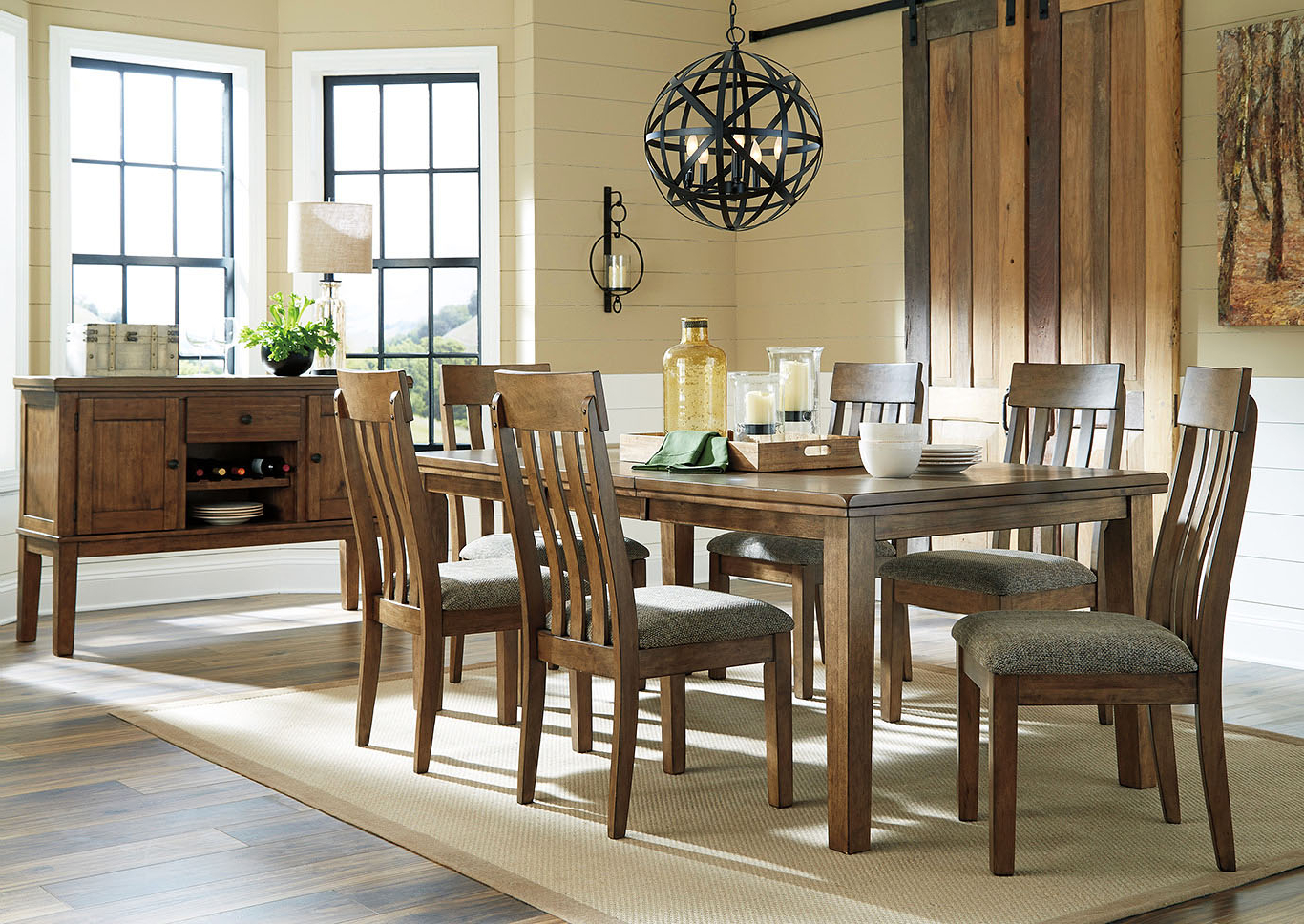 Transitional 6 Seating Casual Dining Tables With Latest Southside Furniture Flaybern Light Brown Extension Dining (View 22 of 25)