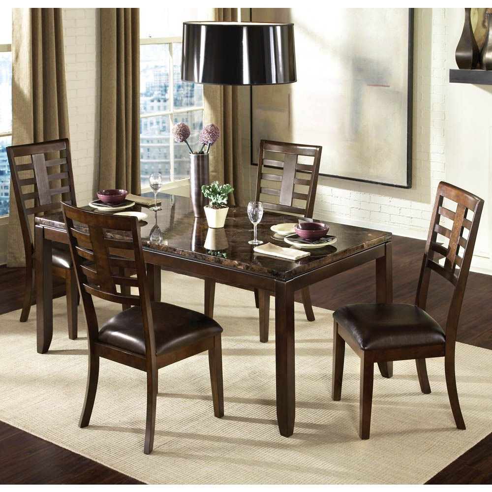 Transitional Antique Walnut Square Casual Dining Tables In Most Current The Sleek Contemporary Lines Of Bella Will Enhance Any (View 14 of 25)