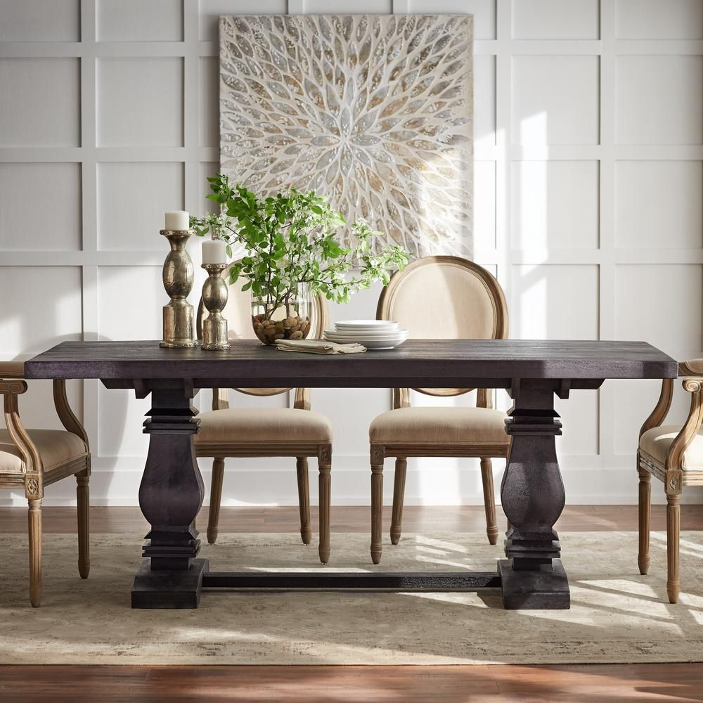 Transitional Antique Walnut Square Casual Dining Tables Intended For Popular Home Decorators Collection Aldridge Antique Walnut Nb 063Wb (View 17 of 25)